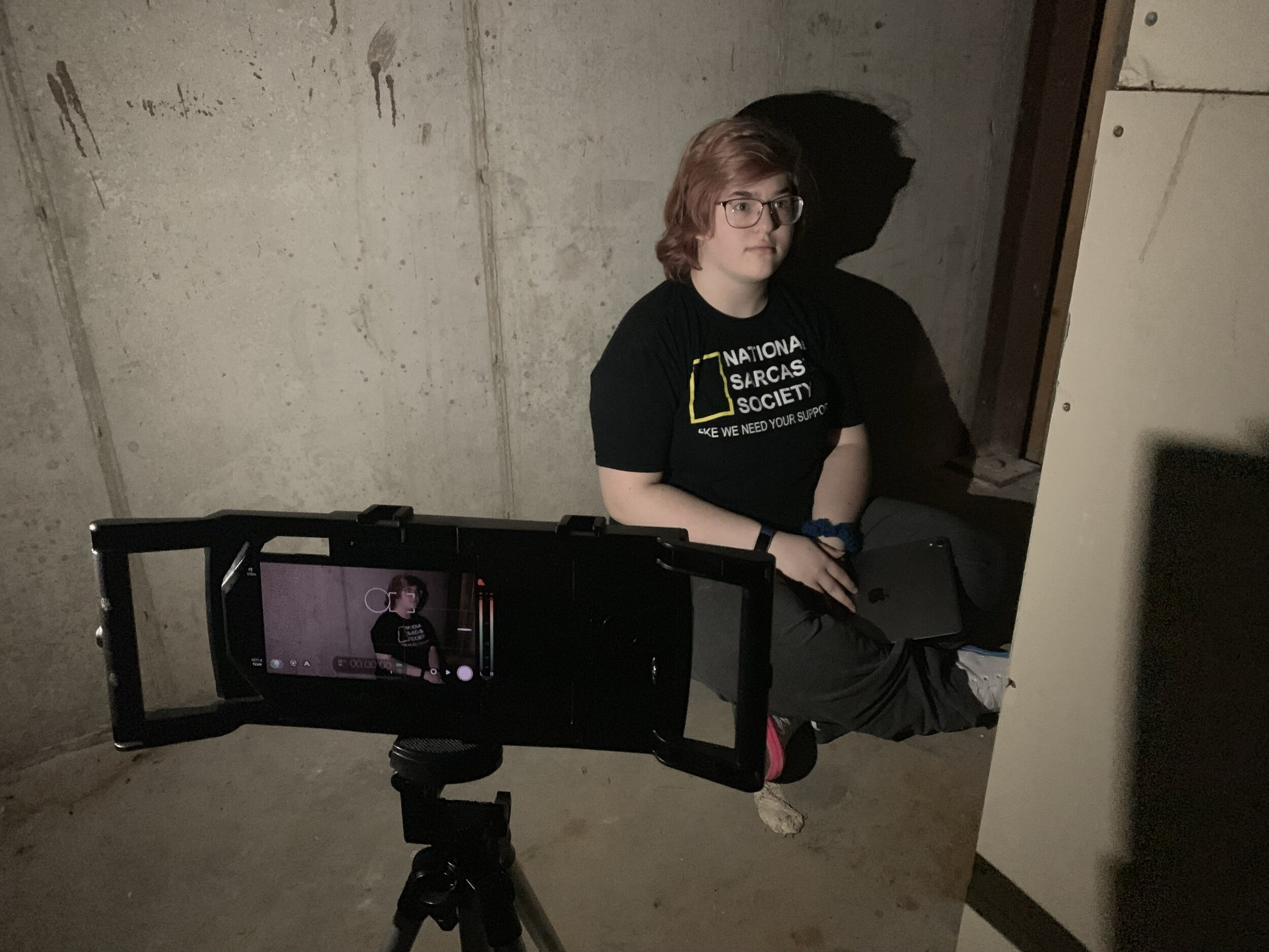 Showdown Camp kids shooting a horror film using iOgrapher cases, FilmicPro and the iPhone X!