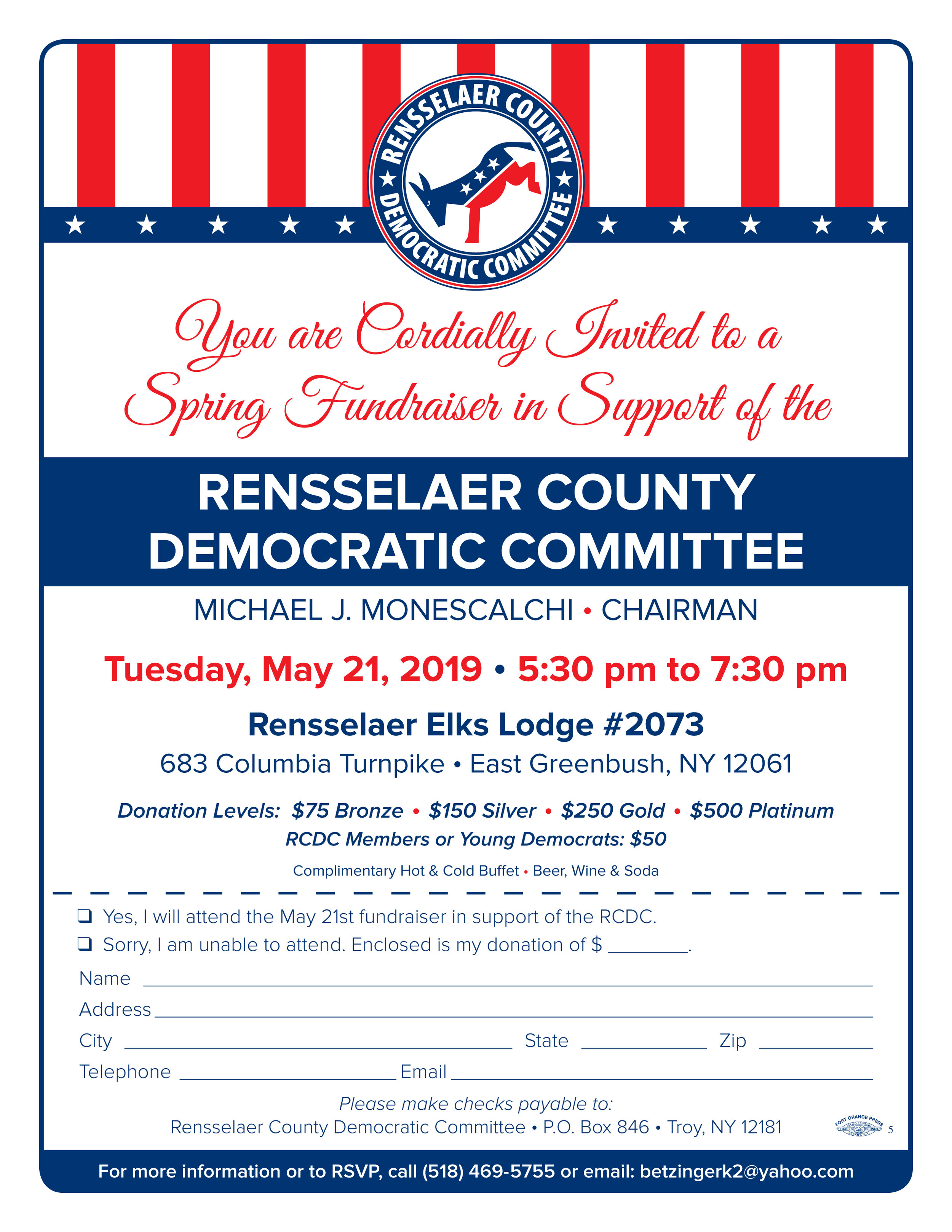 Rensselaer County Democratic Committee Fundraiser Invite - May 21 2019.jpg