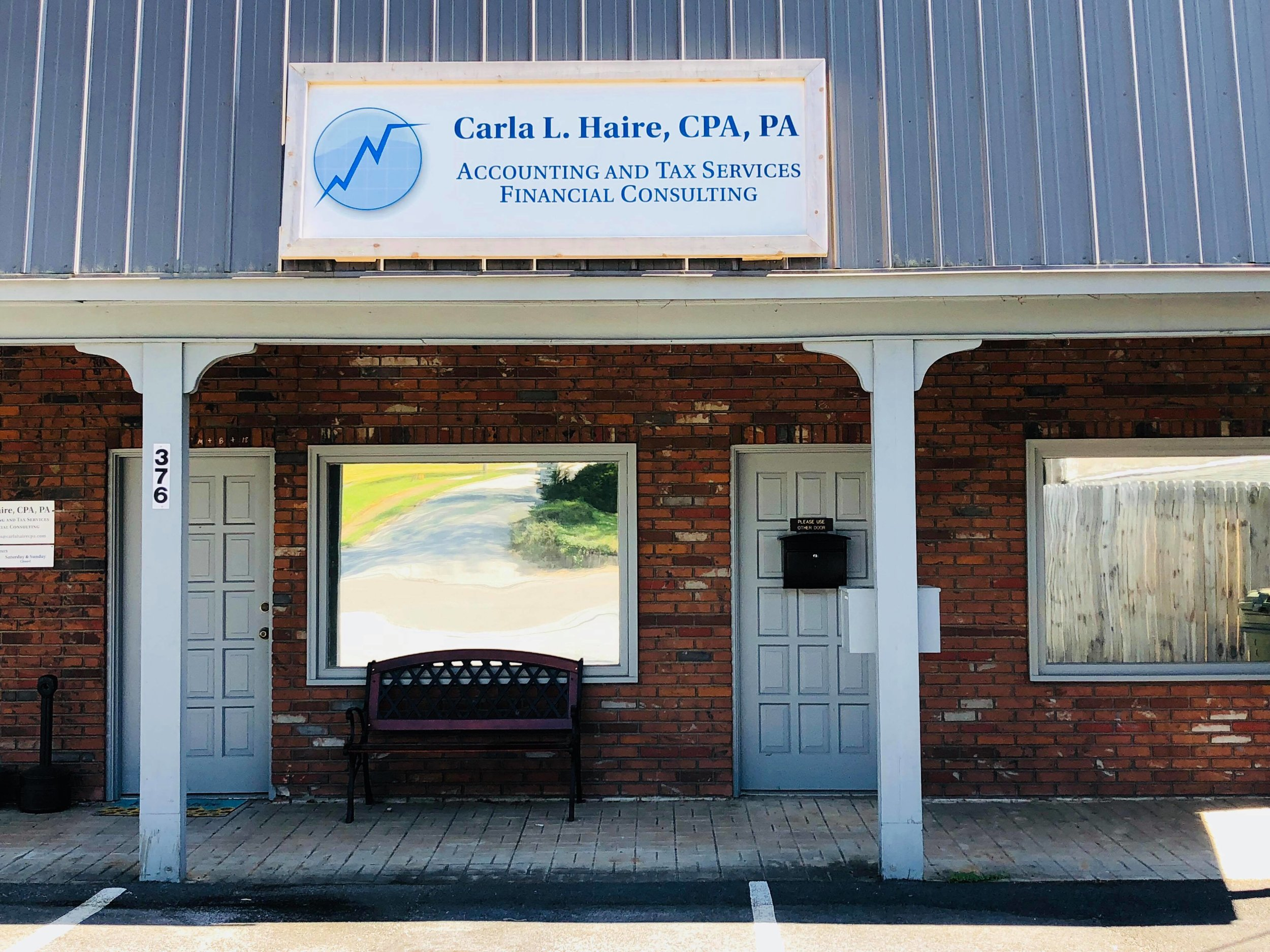 Our new location at 376 West Main Street in Franklin, North Carolina.