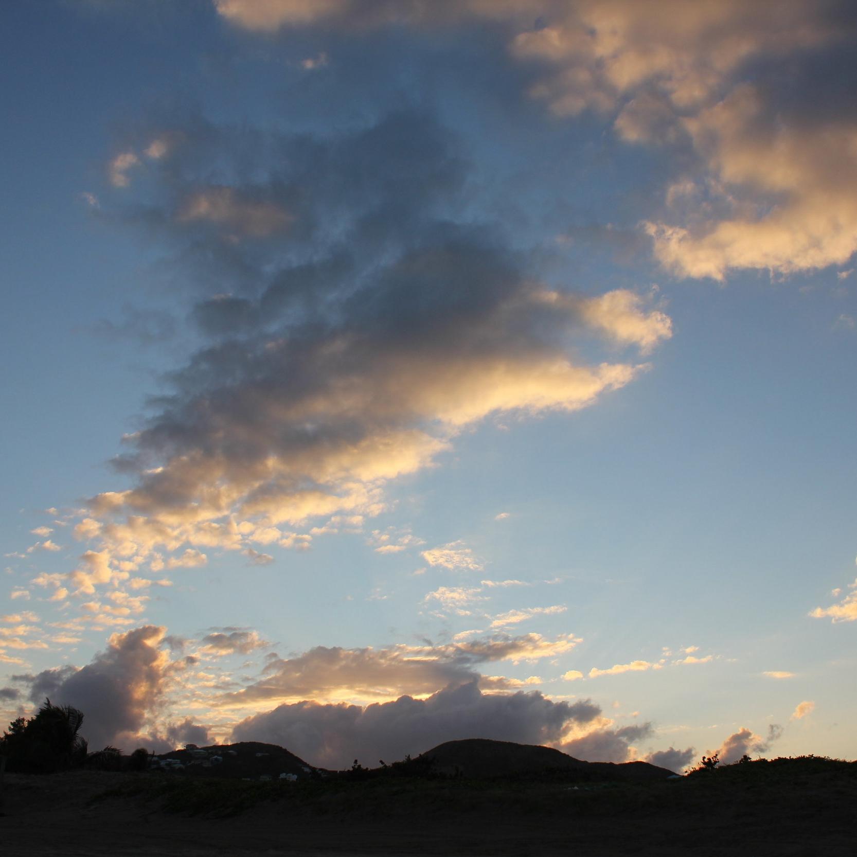 Frigate Bay sunset view