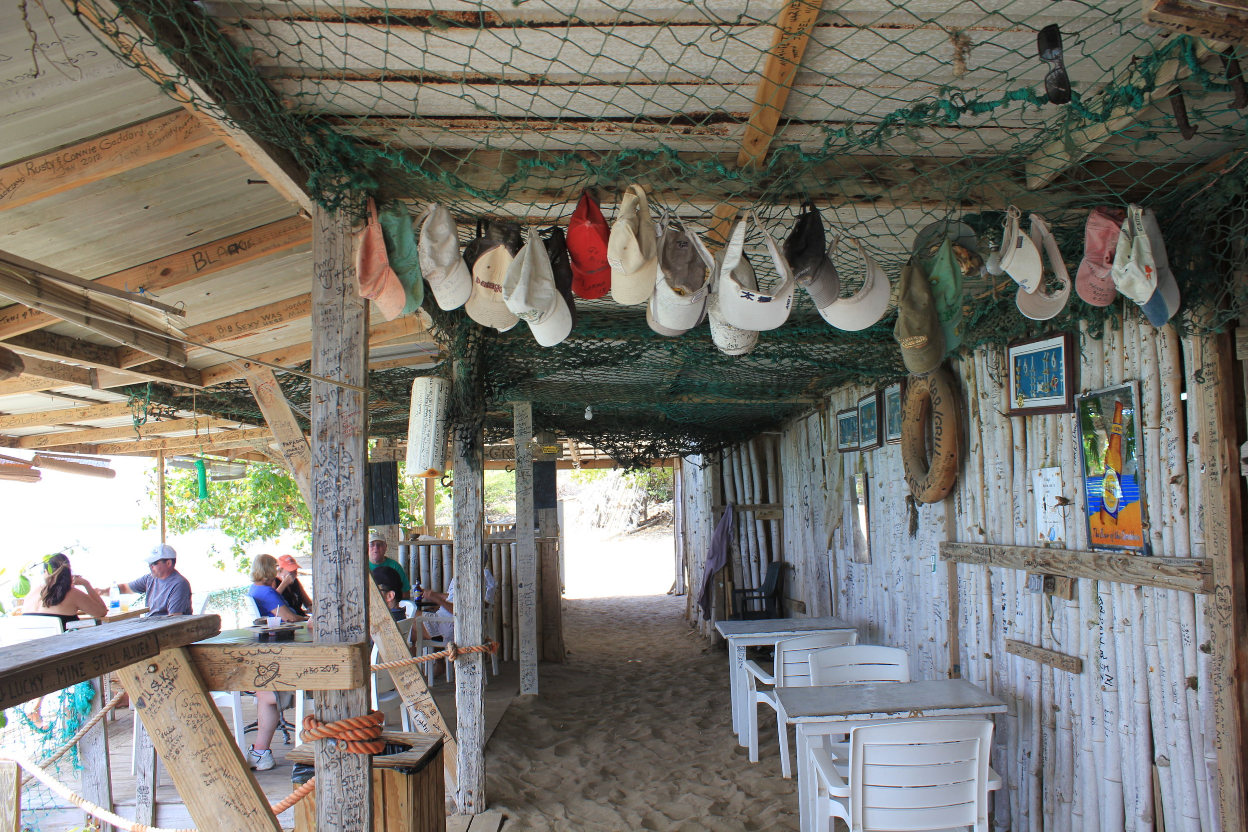 South Friar's Bay – Shipwreck Beach Bar interior