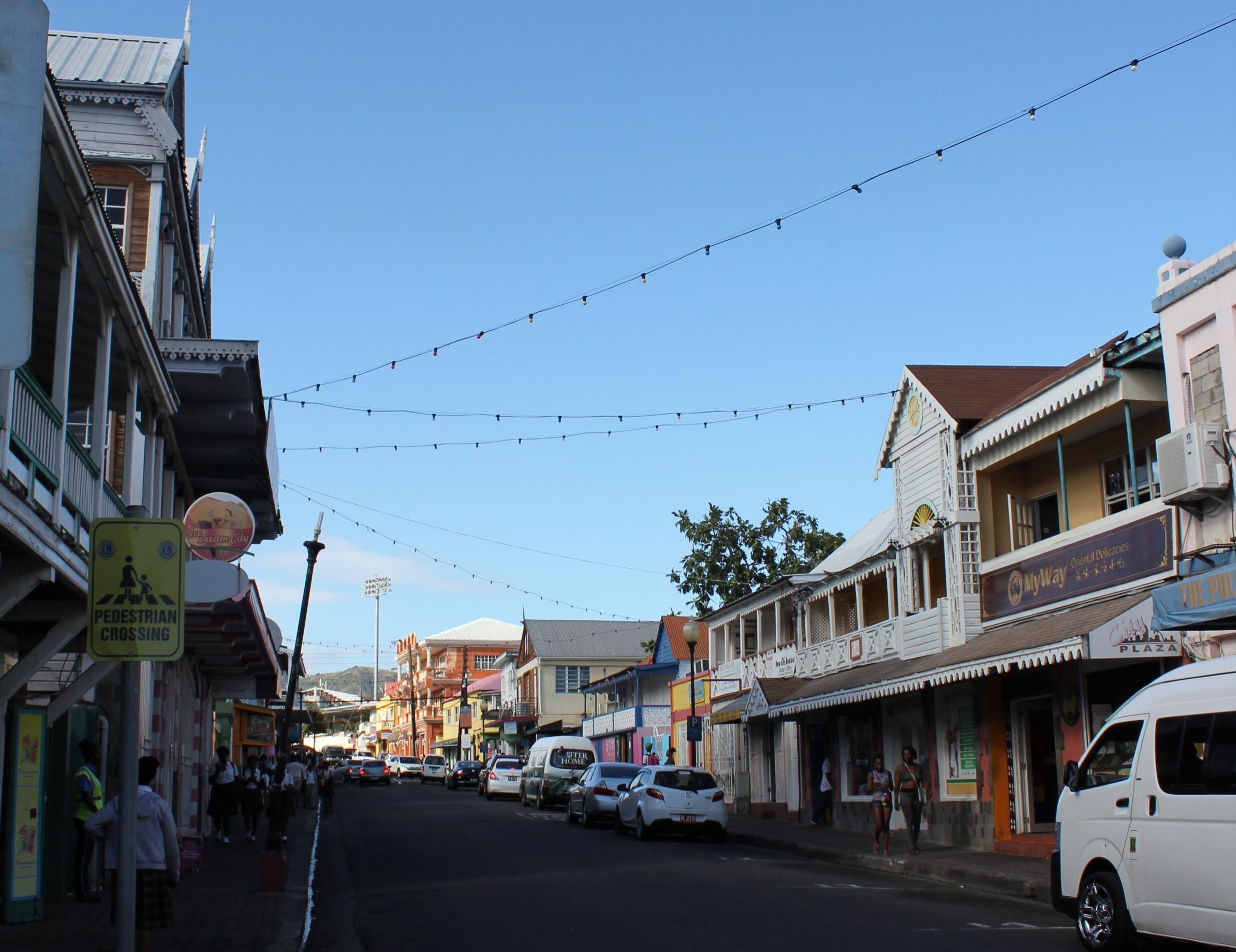 Downtown Basseterre – Main street