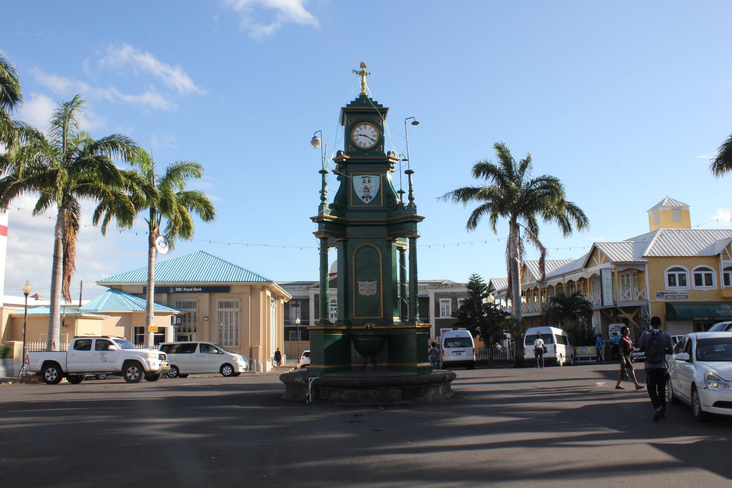 Downtown Basseterre – Clock tower
