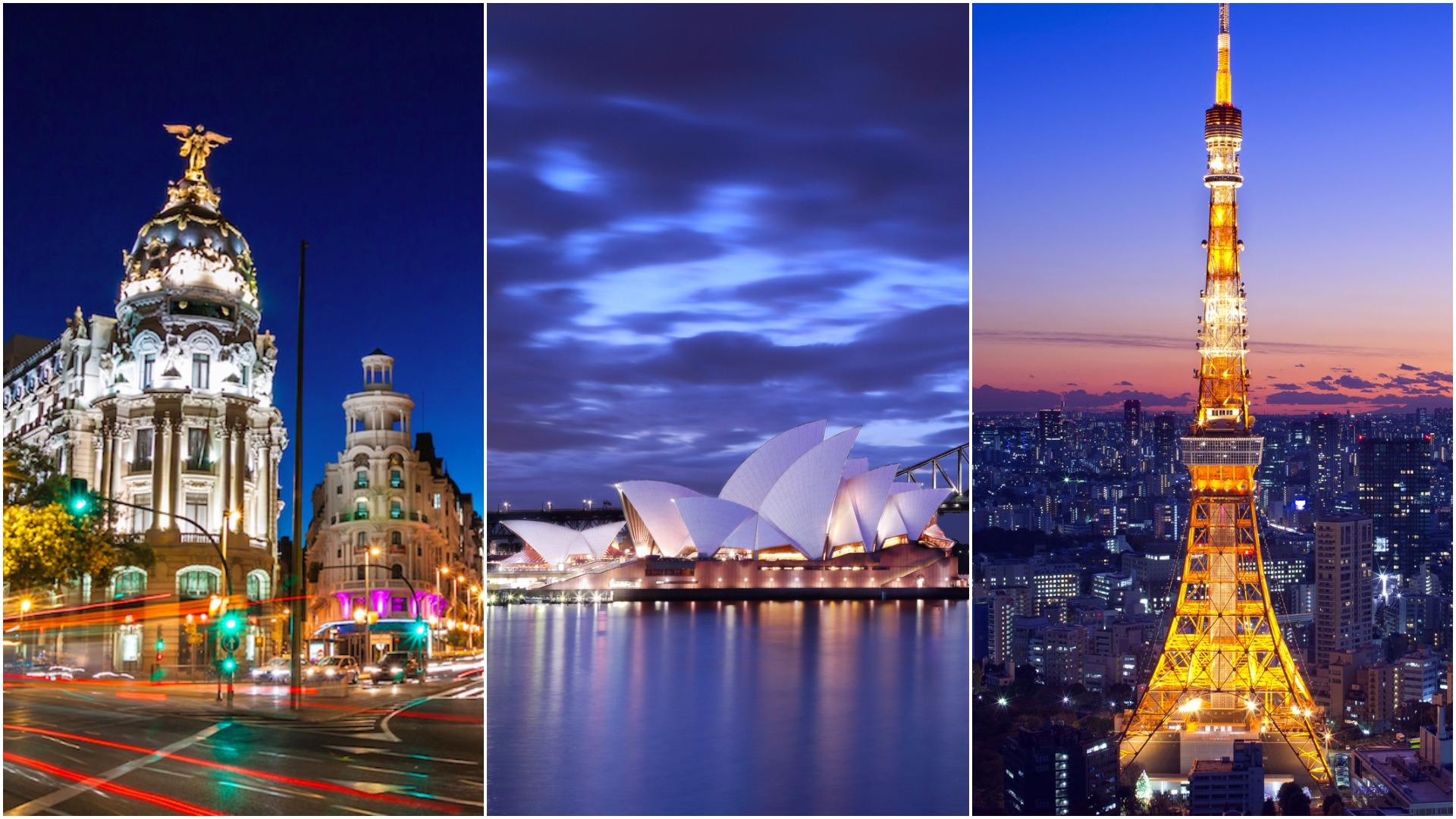 Gran Via, Madrid, Sydney Opera House, Tokyo Tower - Aeroplan Mini-RTW Redemption   Prince of Travel   Miles & Points