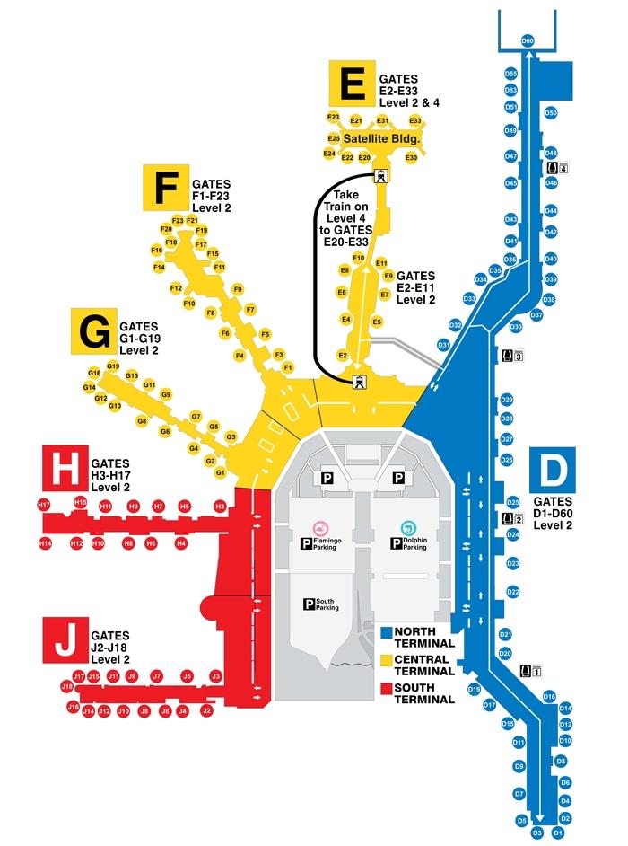 Miami Airport Terminal Map