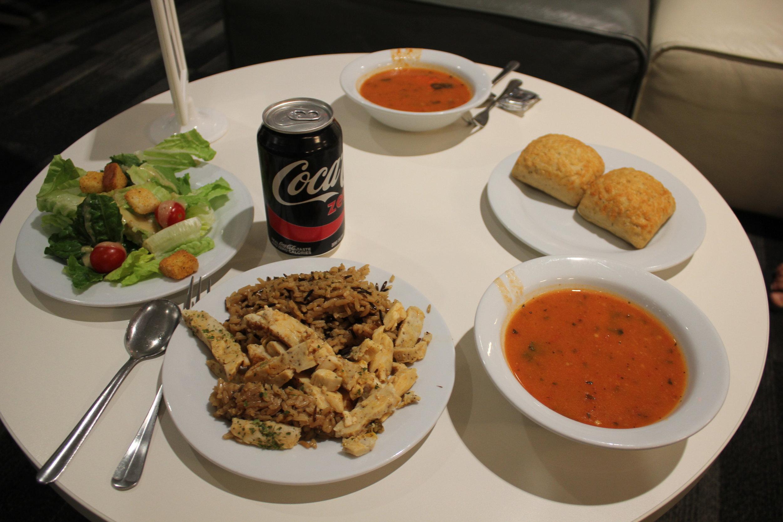 Avianca Lounge Miami – Dinner