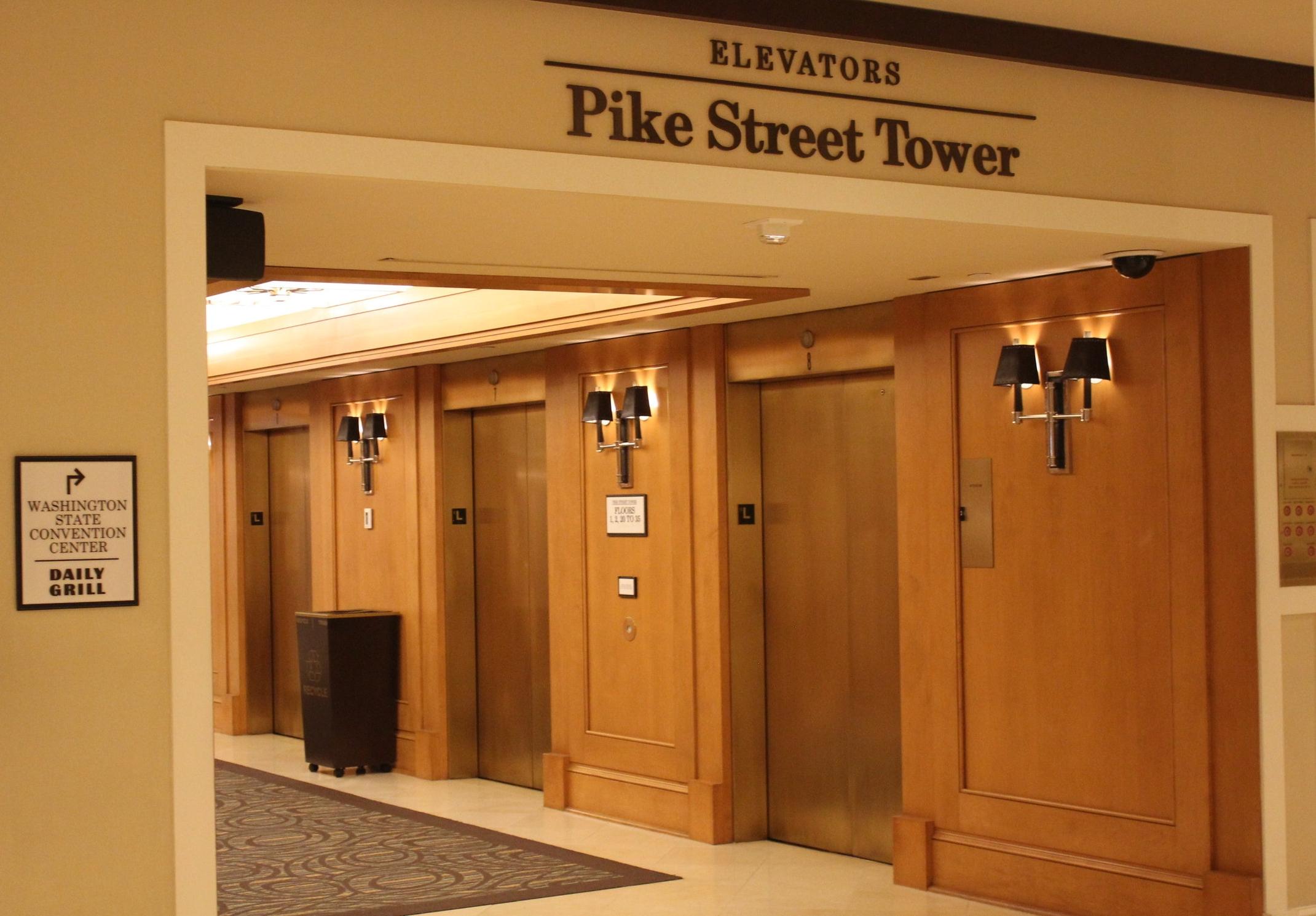 Sheraton Seattle – Pike Street Tower elevators