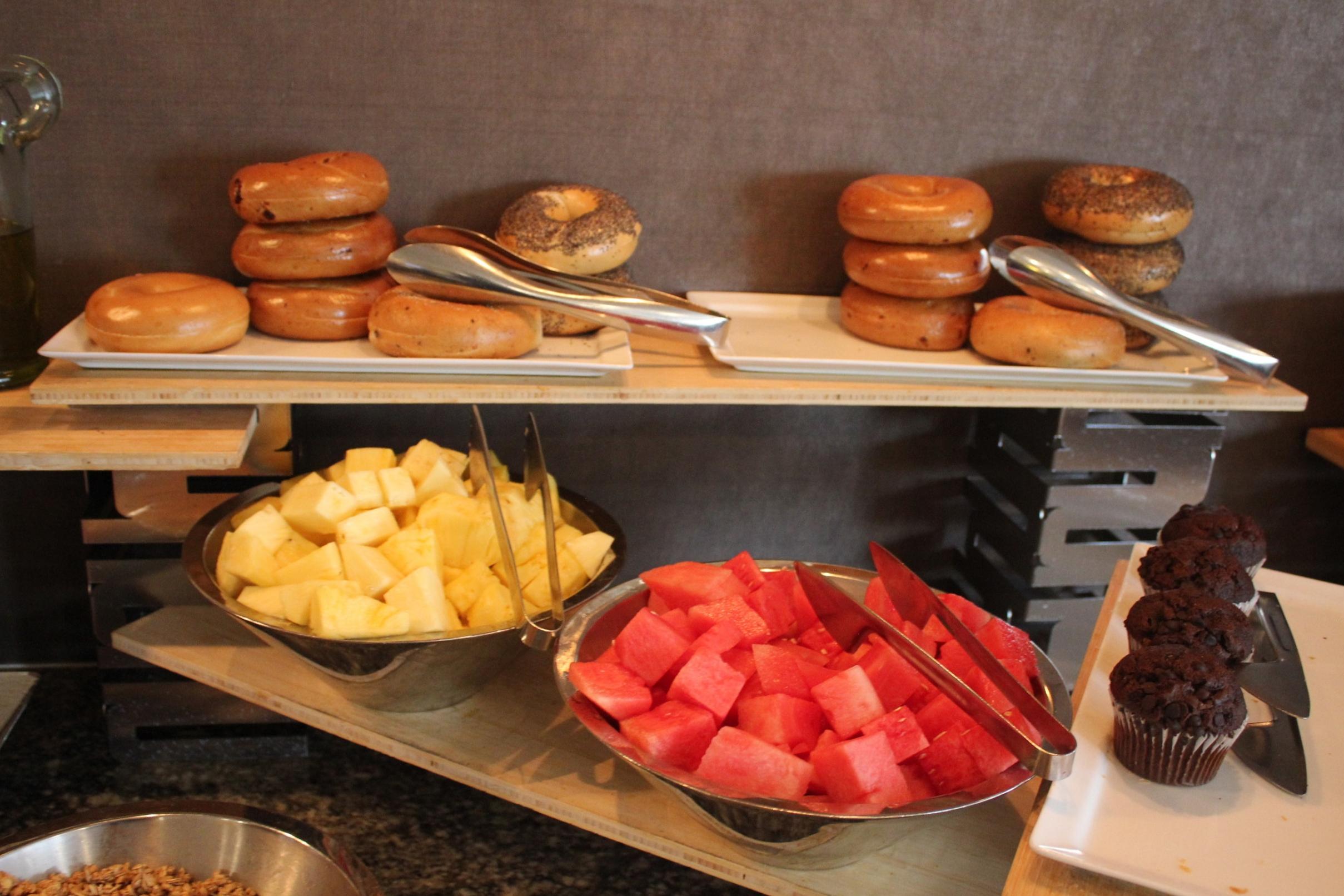 Sheraton Seattle – Sheraton Club Lounge breakfast spread