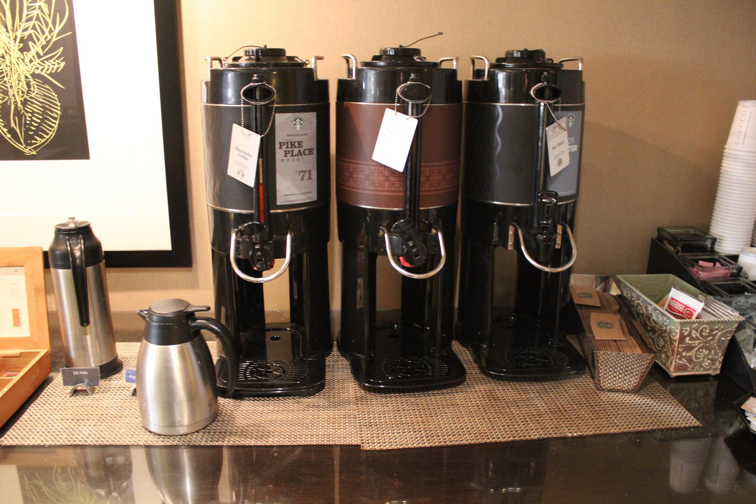 Sheraton Seattle – Sheraton Club Lounge coffee