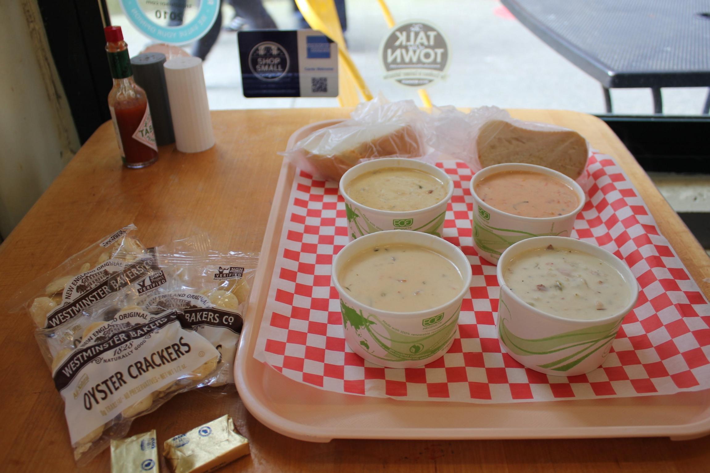 Pike Place Chowder – Chowder sampler