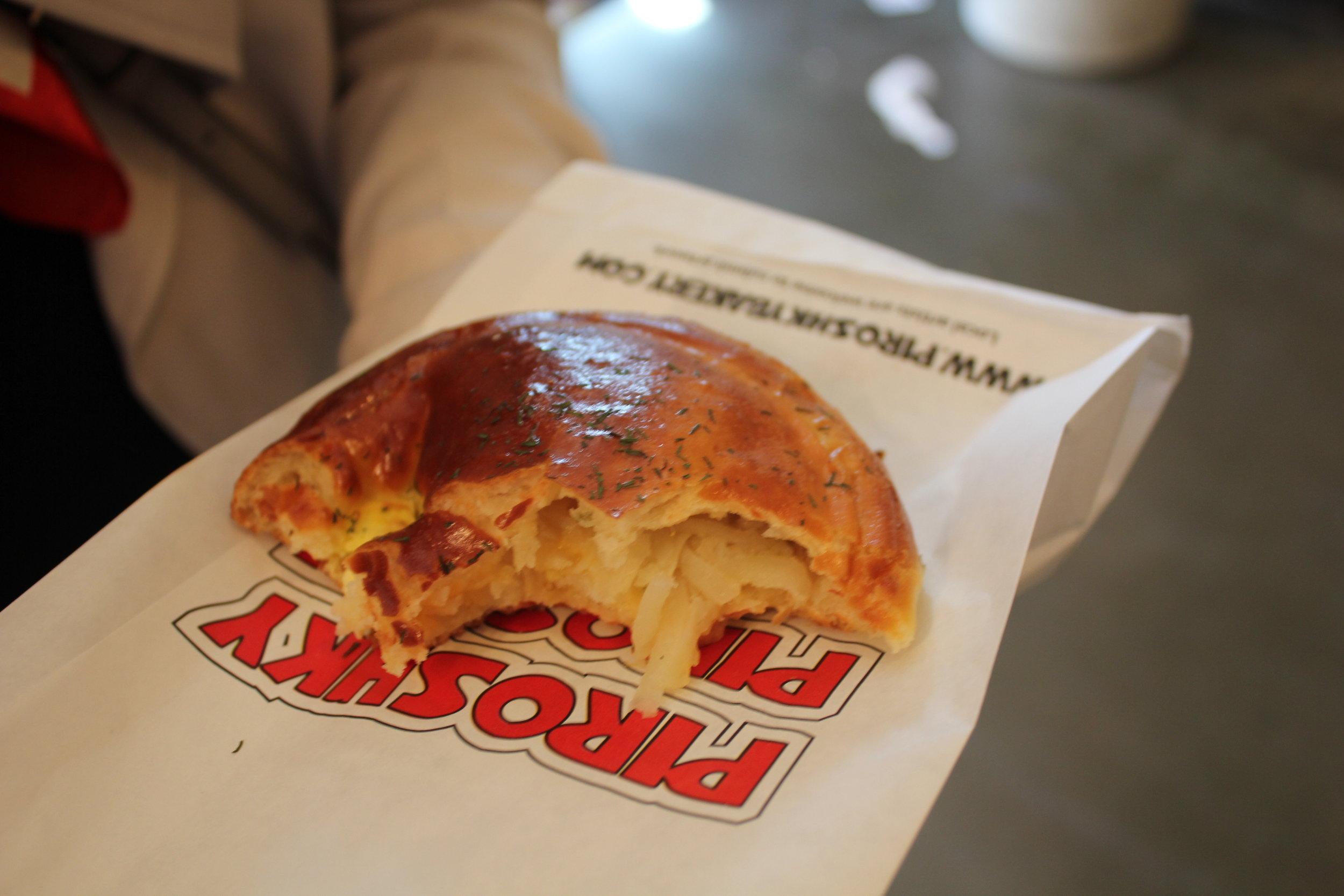Pike Place Market – Potato & cheese pirozhki