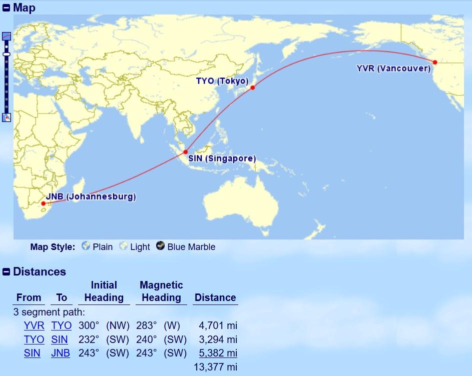 Vancouver to Johannesburg Mini-RTW | Prince of Travel | Miles & Points