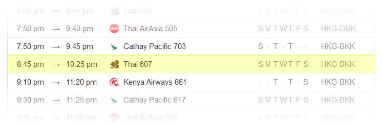 Hong-Kong-to-Bangkok-Flight-Schedule