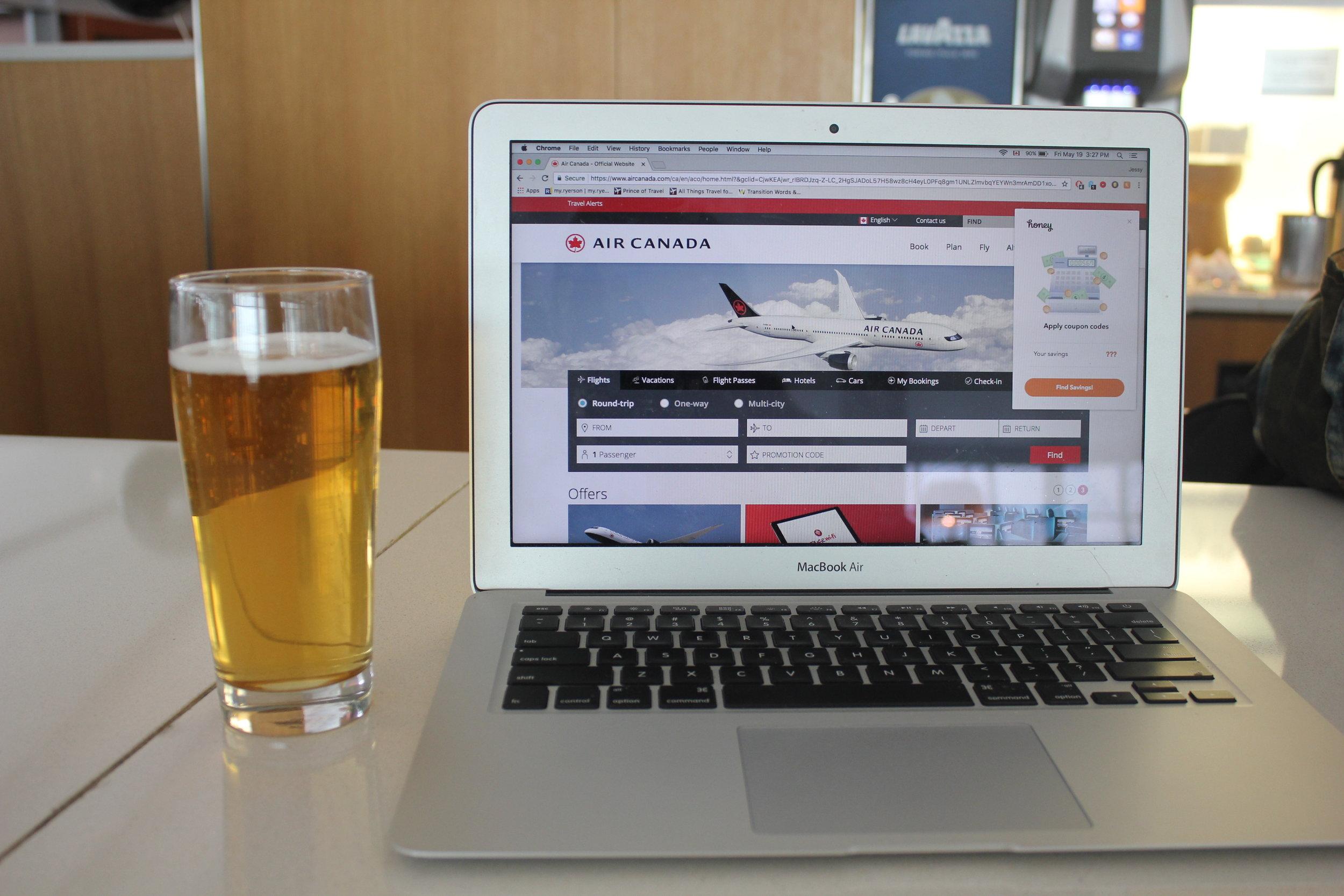 Air Canada Maple Leaf Lounge Toronto (International) – Beer
