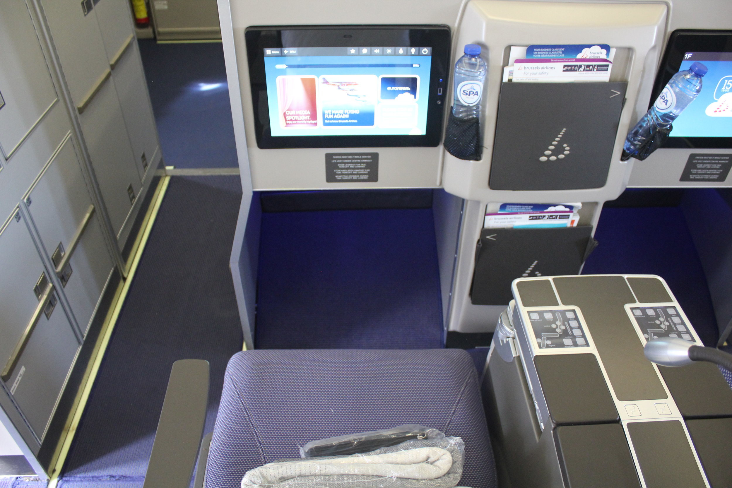 Brussels Airlines business class – Seat 1D