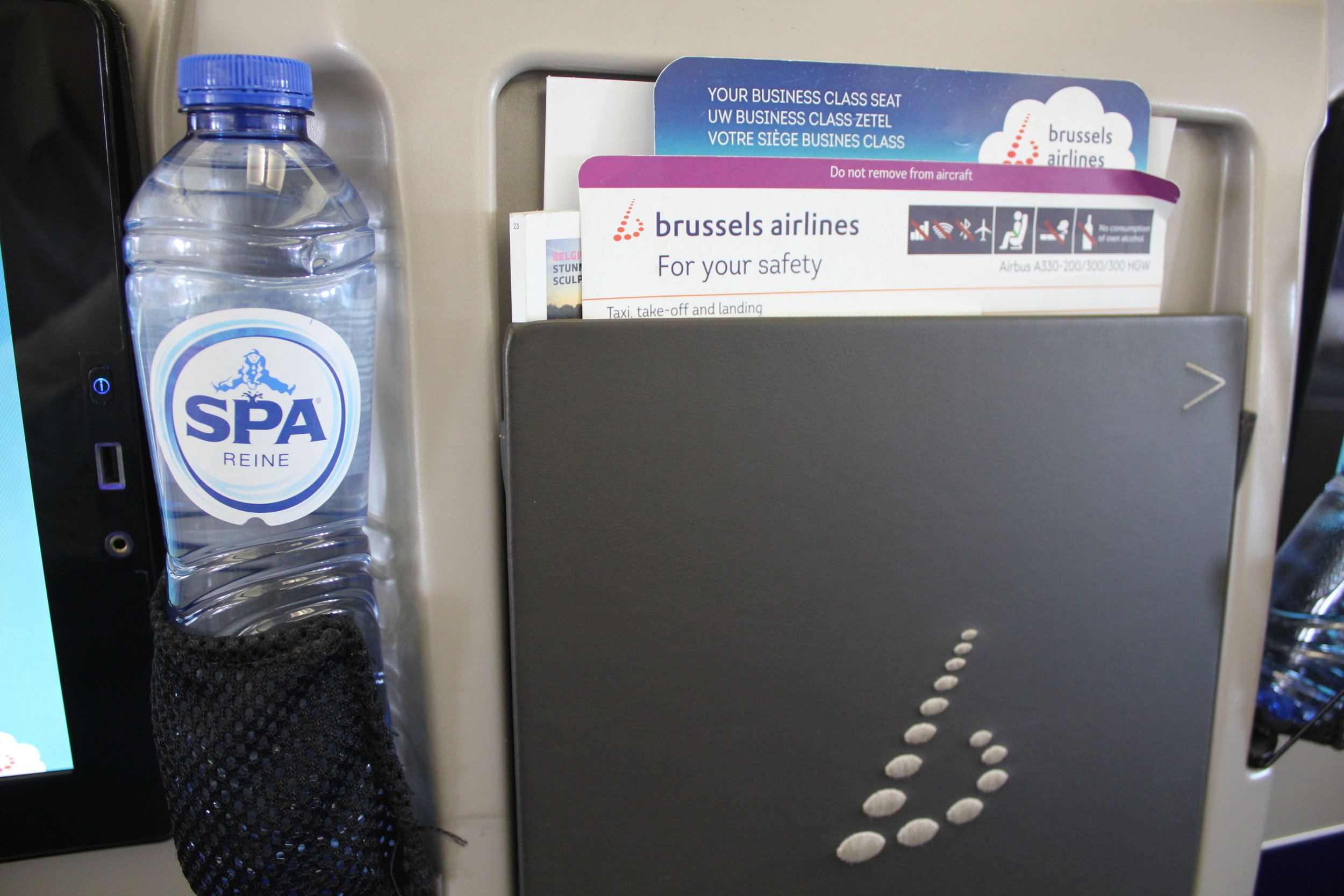 Brussels Airlines business class – Bottled water