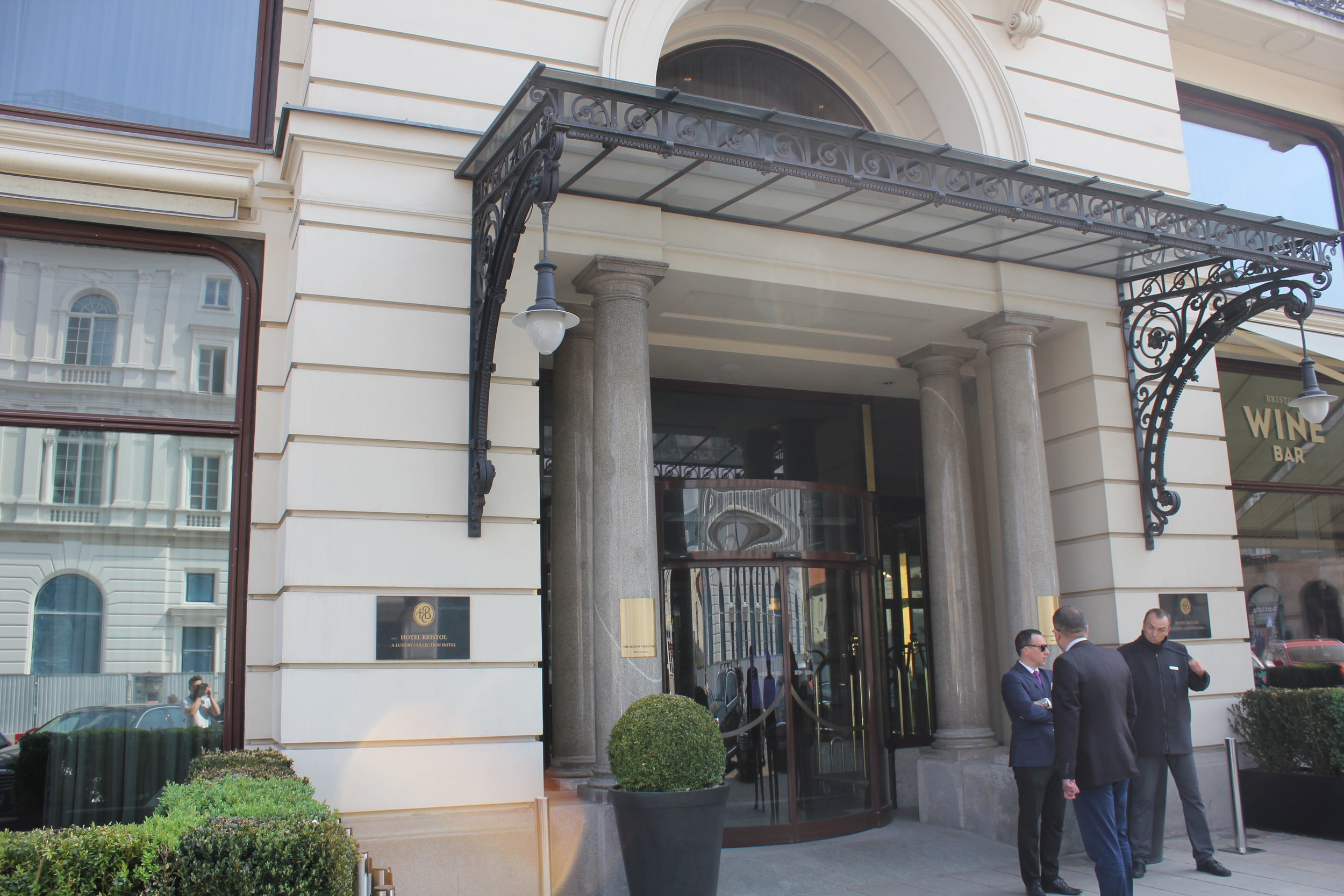 Hotel Bristol Warsaw – Entrance