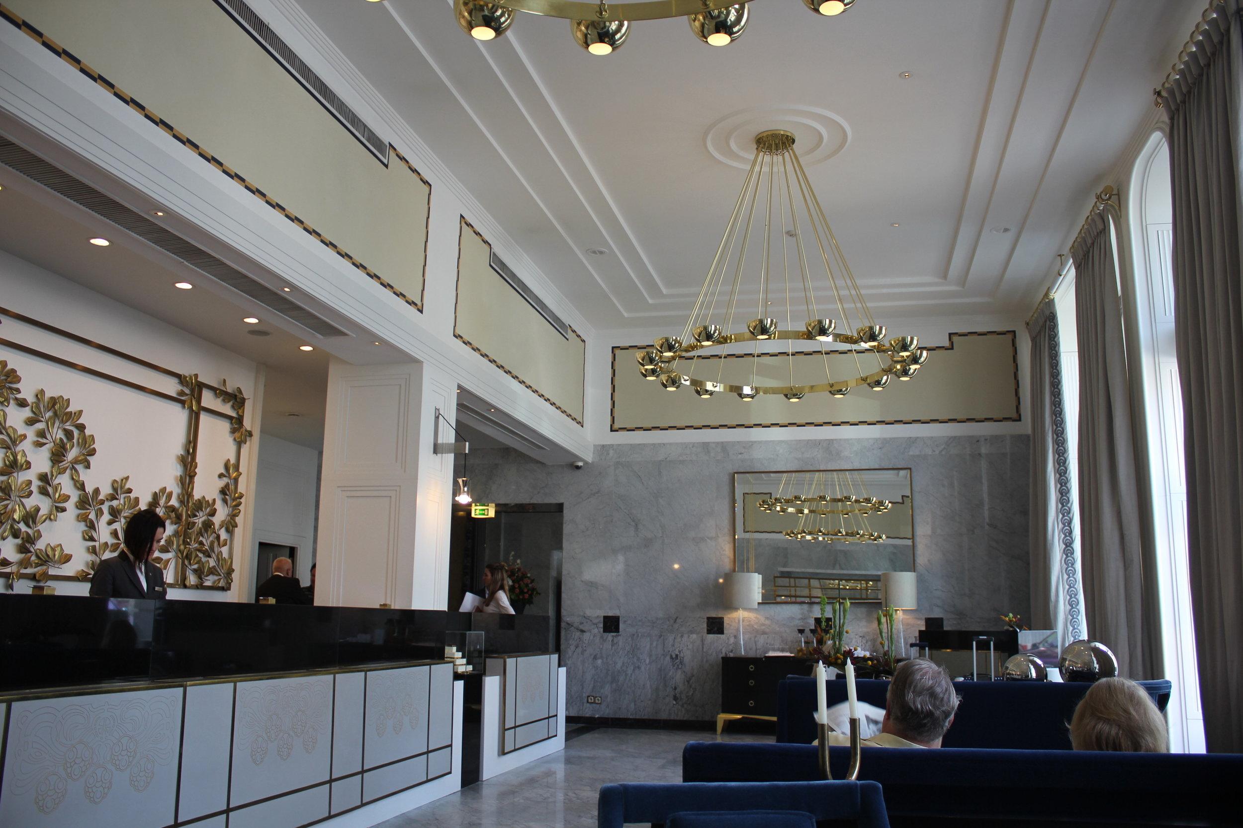 Hotel Bristol Warsaw – Check-in area