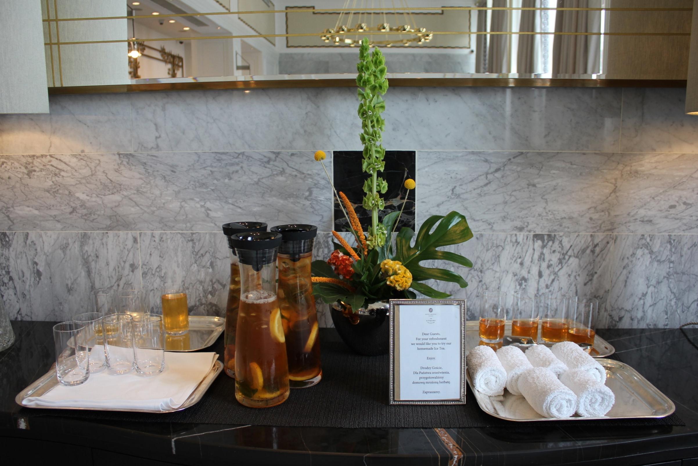 Hotel Bristol Warsaw – Check-in amenities