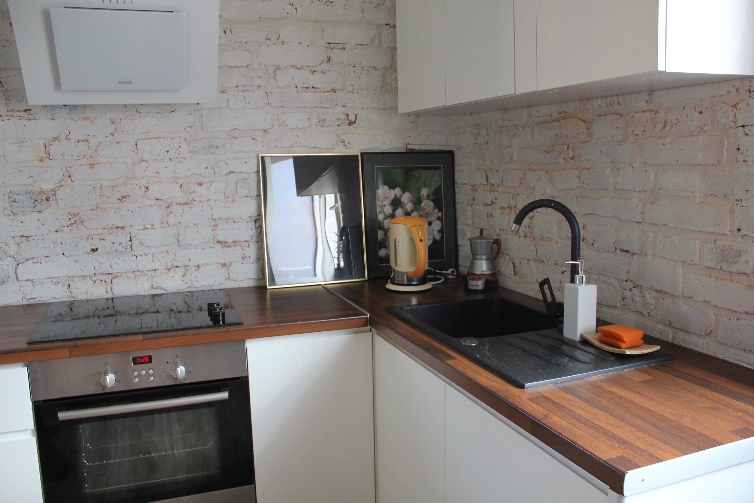 Apartament na Mariensztacie – Kitchen
