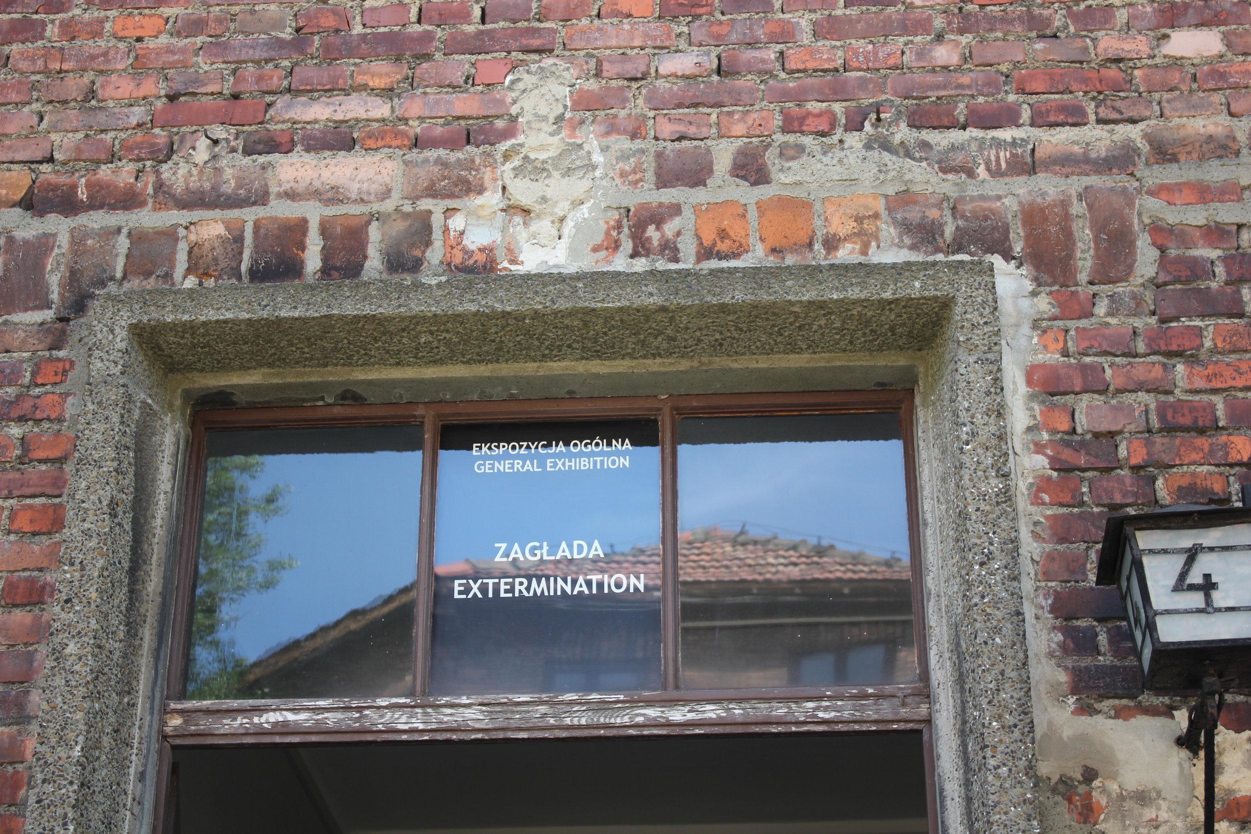 "Entrance to the ""Extermination"" exhibit"