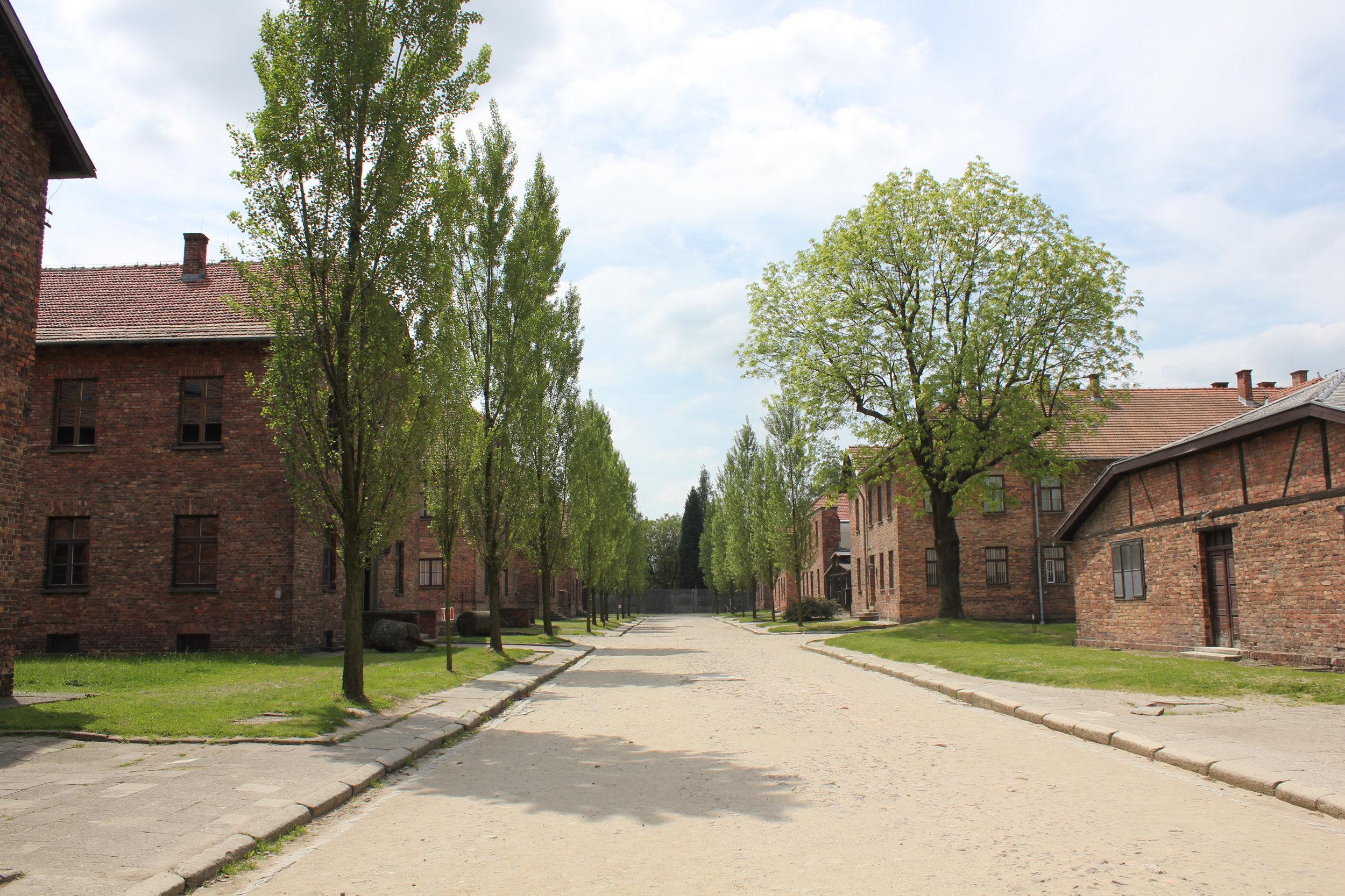 The barracks at Auschwitz I