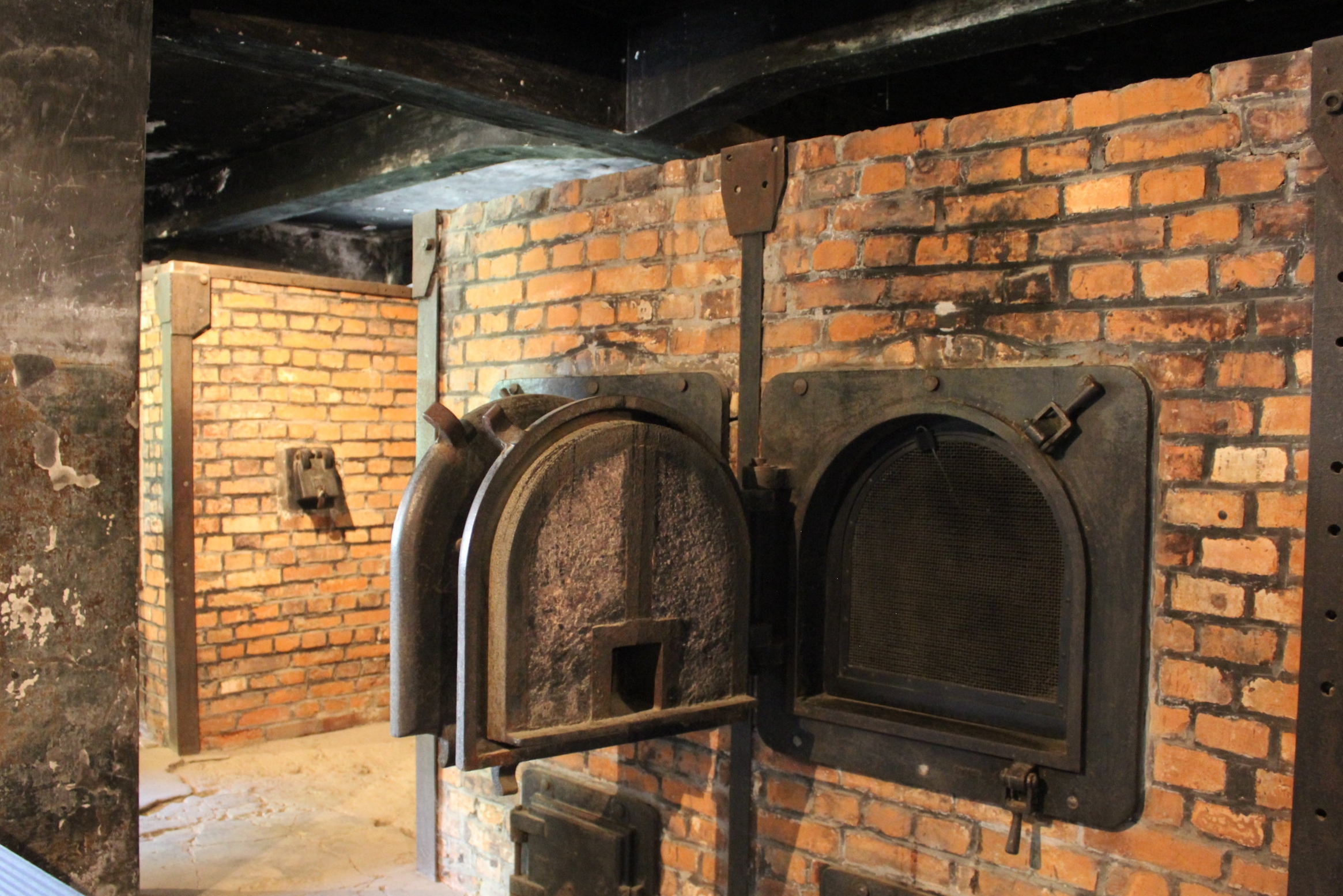 """The furnace located on-site at Krema I: certain camp prisoners, known as Sonderkommando (""""special unit"""") were responsible for cremating the bodies of gas chamber victims on an industrial scale. The Sonderkommando were themselves killed every few months and replaced with new prisoners, due to their intimate knowledge of the Nazis' crimes."""