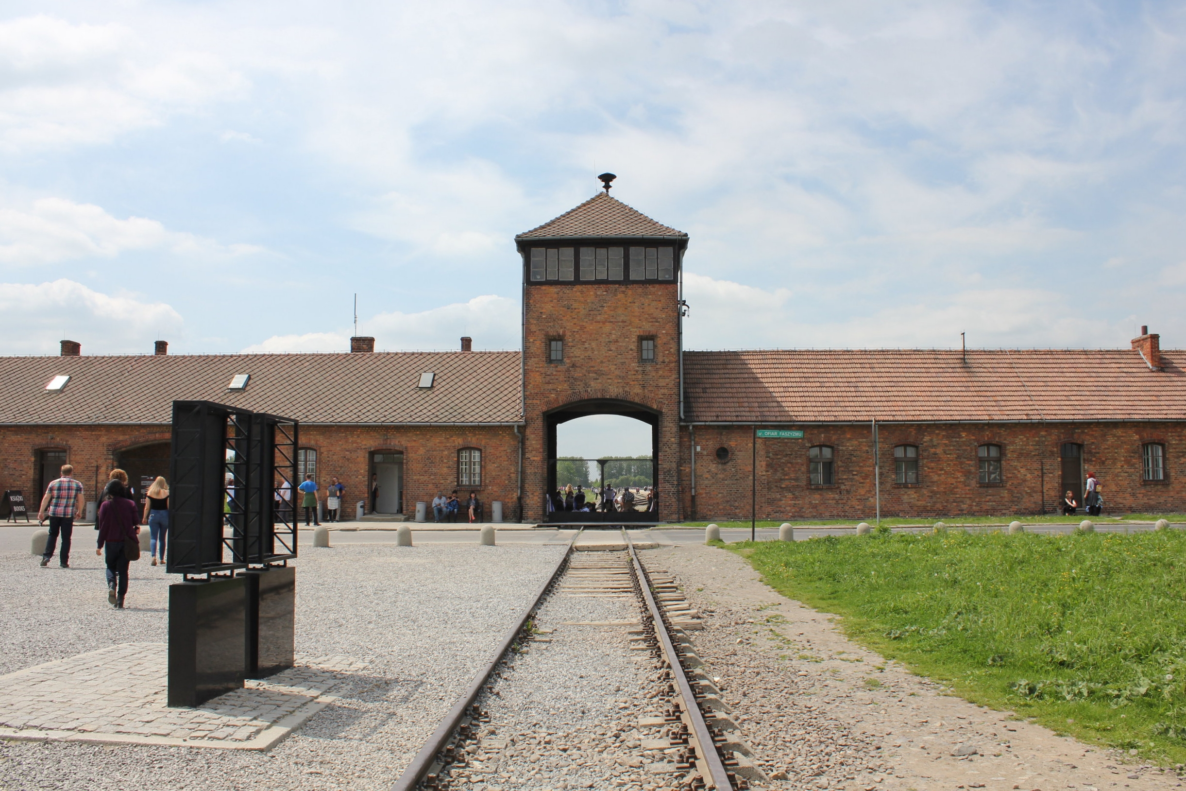 """The """"death gate"""" at Auschwitz II–Birkenau: these were the gates that greeted 1.3 million Holocaust victims that perished at the Birkenau extermination camp, including 1.1 million European Jews"""