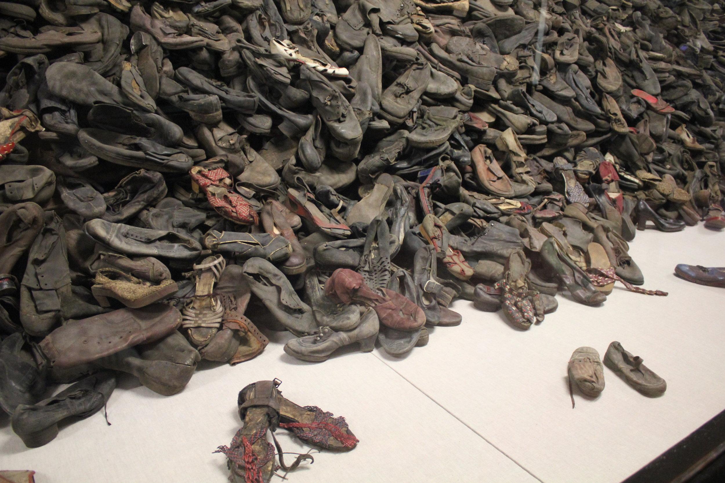 Victims' shoes