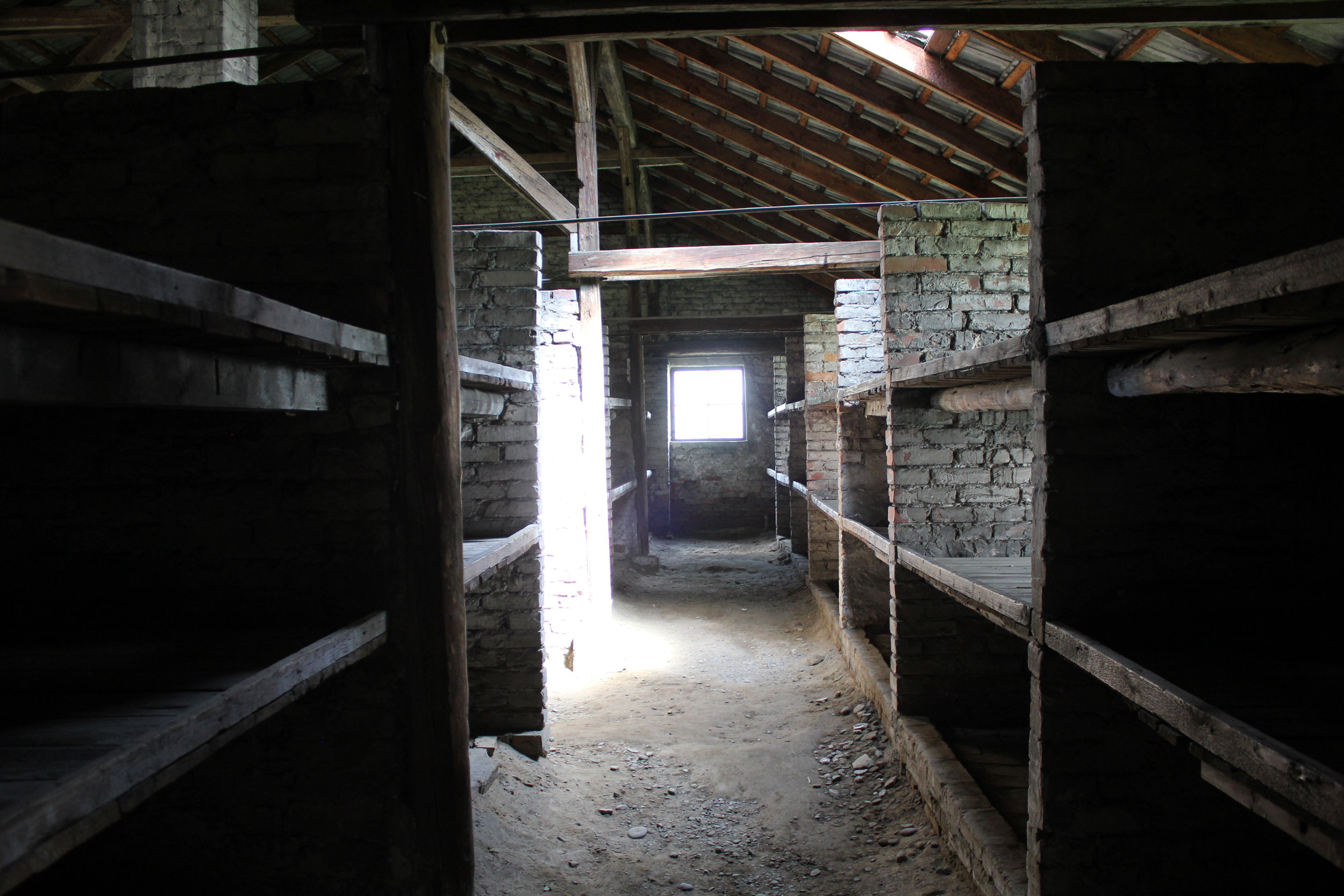 """The last stop of our tour, the """"Death Barrack"""": this barrack housed women prisoners who were identified as being no longer fit to work and were to be sent to the gas chambers"""