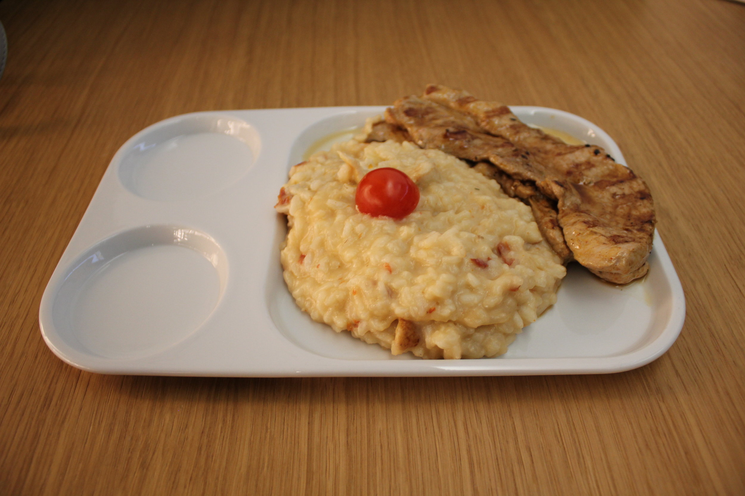 Swiss Senator Lounge Zurich – Rissotto and pork escalope