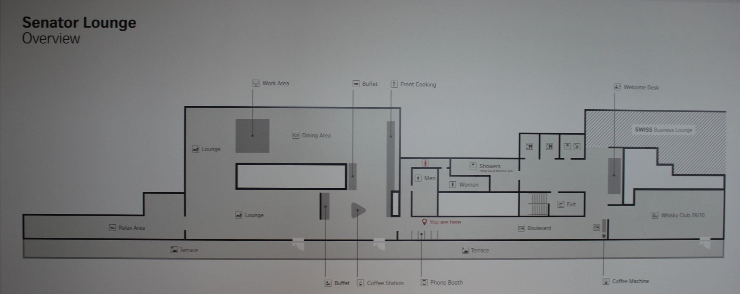 Swiss Senator Lounge Zurich – Lounge map