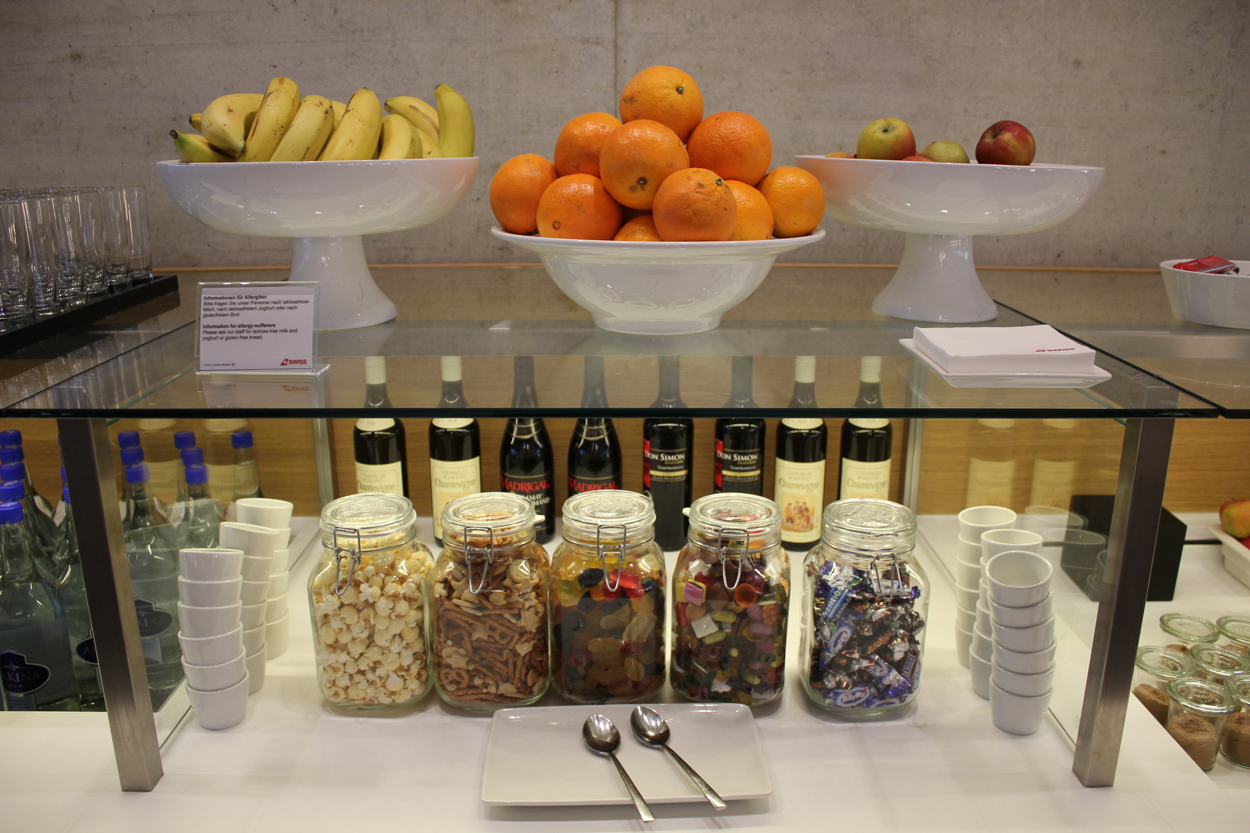 Swiss Business Lounge Zurich – Snacks