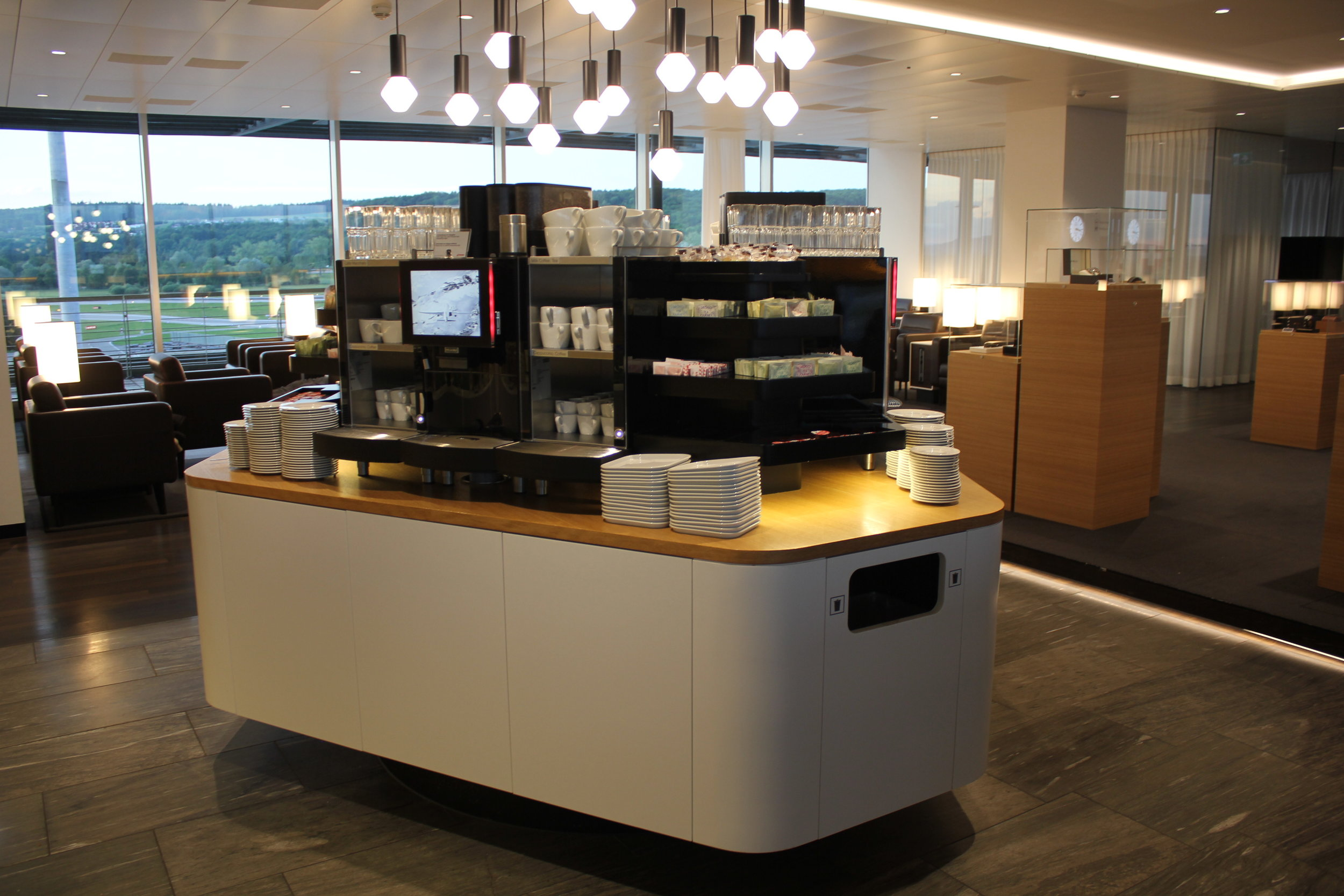 Swiss Business Lounge Zurich – Coffee station