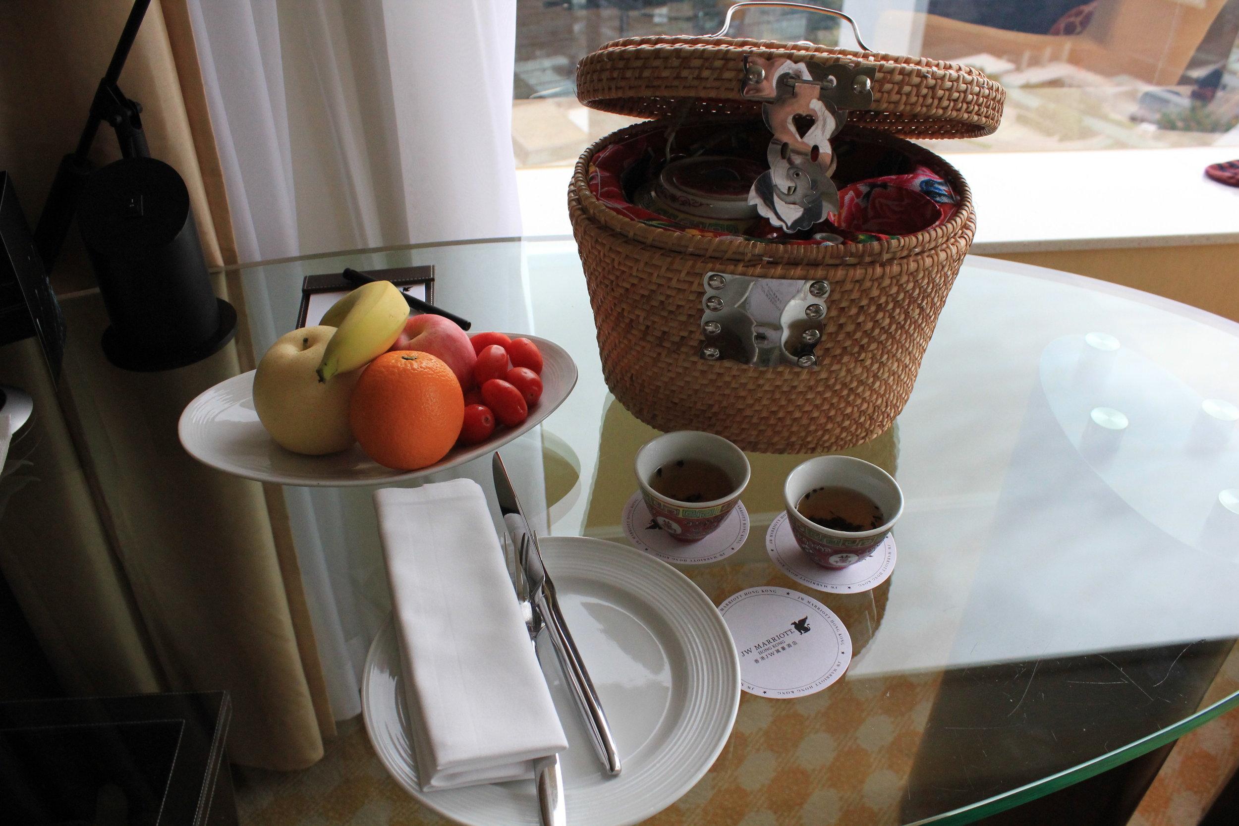 JW Marriott Hong Kong – Welcome amenity