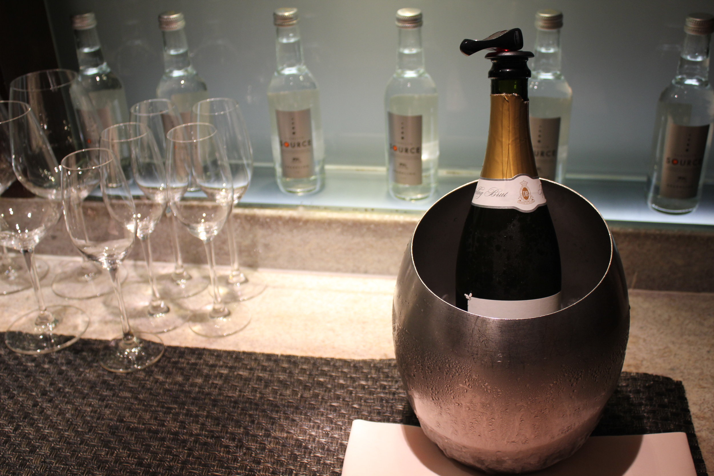 JW Marriott Hong Kong – Executive Lounge champagne
