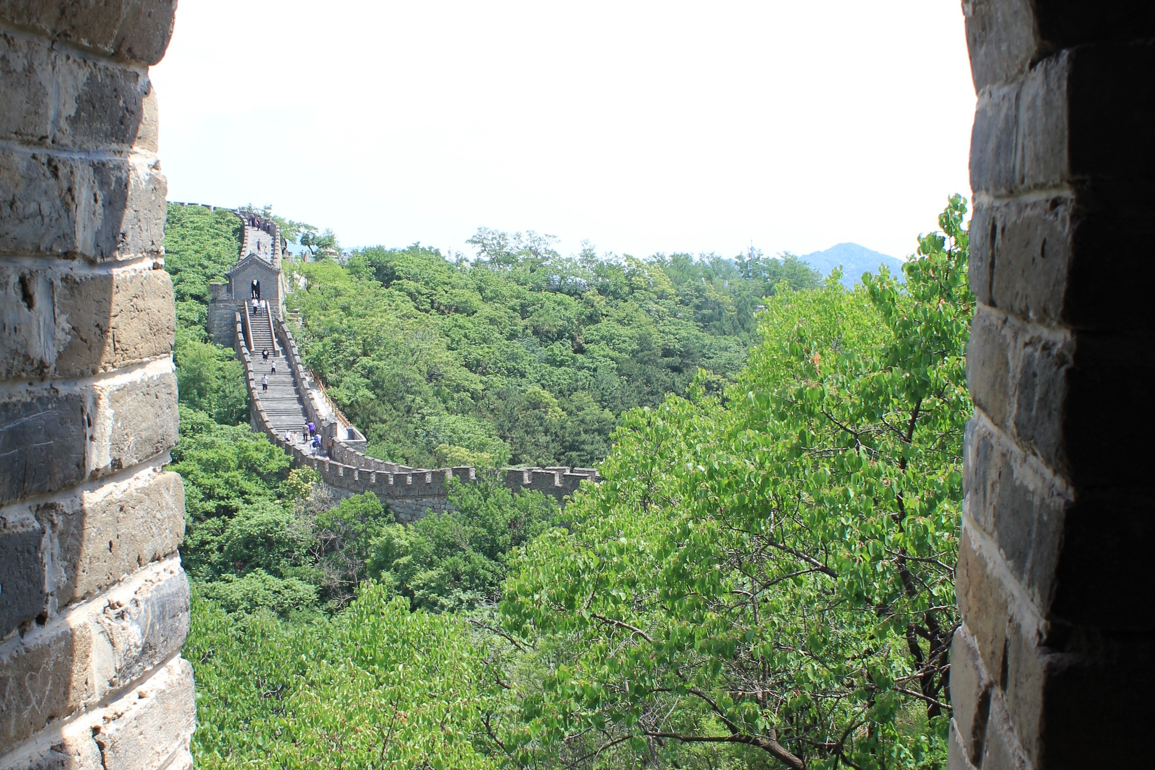 Mutianyu Great Wall – View from watchtower lookout