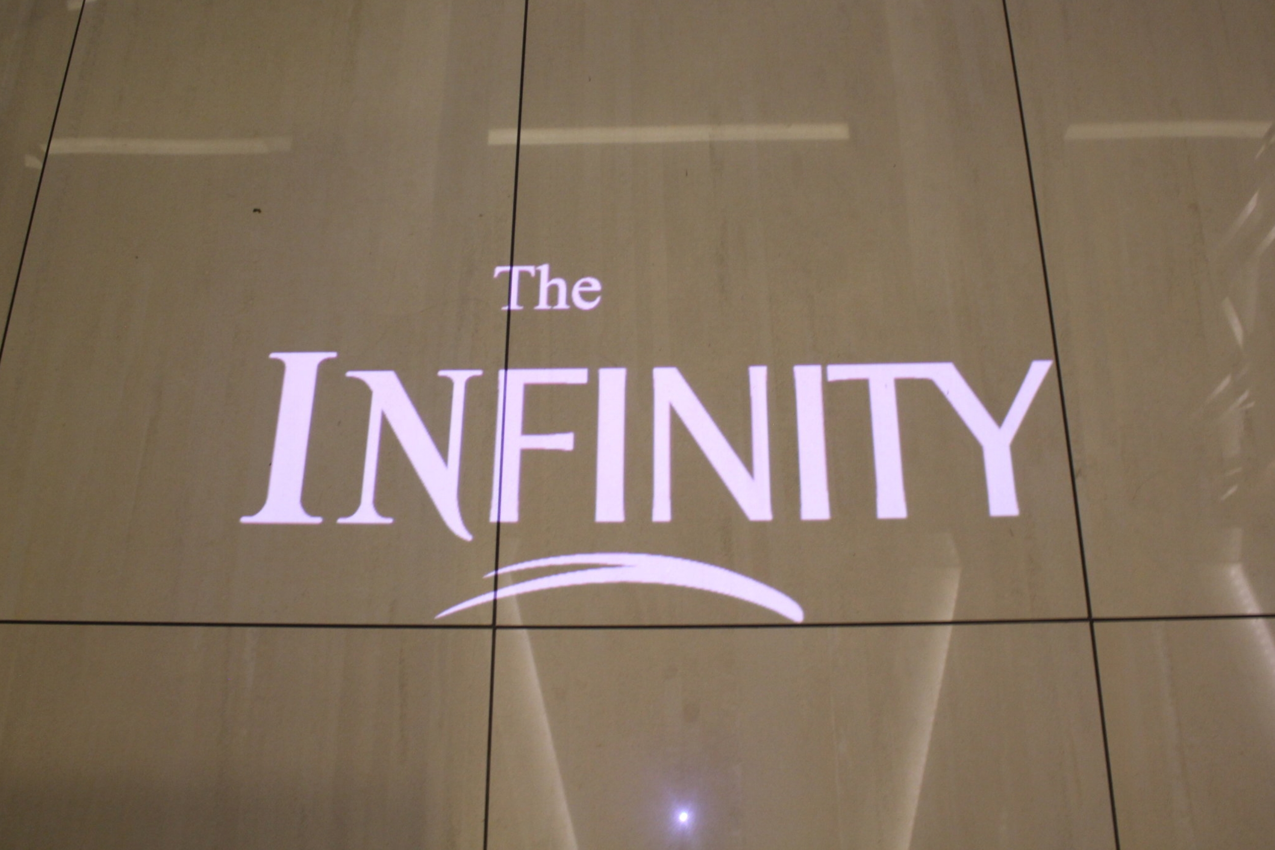 The Infinity Lounge by EVA Air – Welcome sign