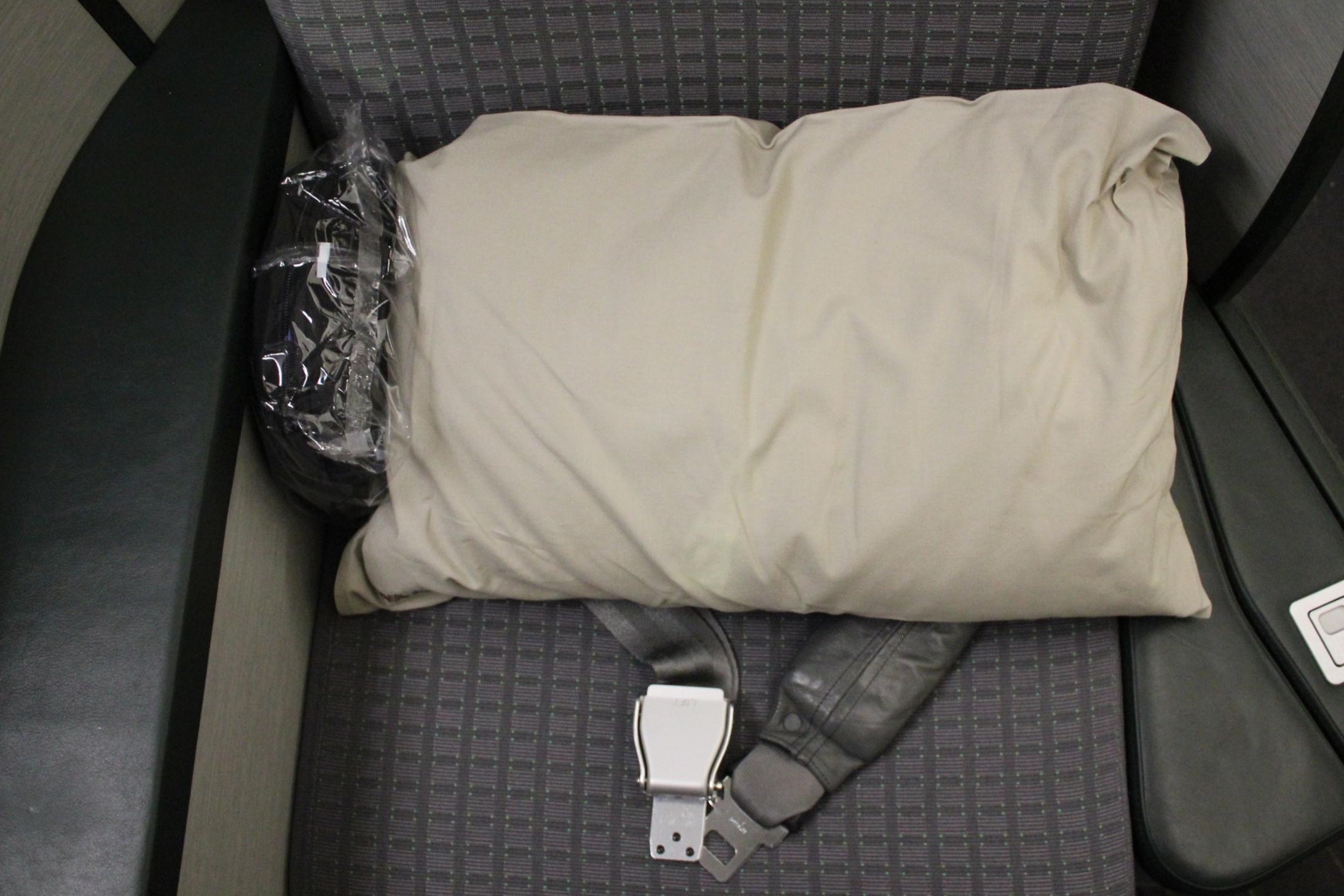 EVA Air business class – Pillow