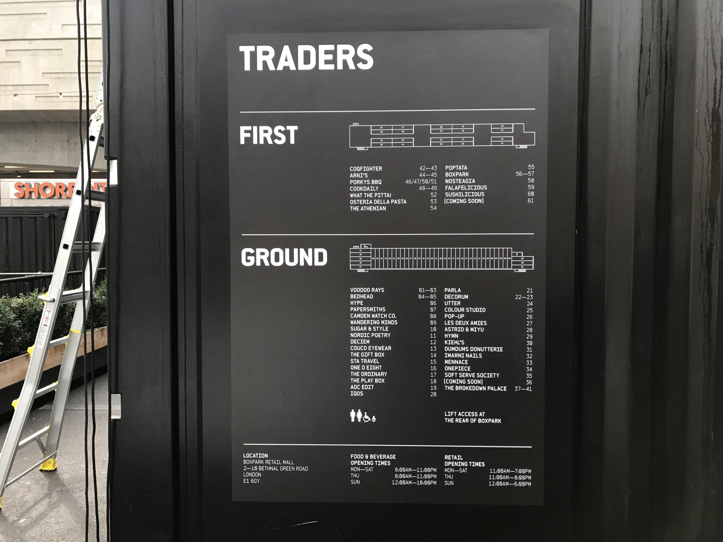 East London – Boxpark Shoreditch merchants