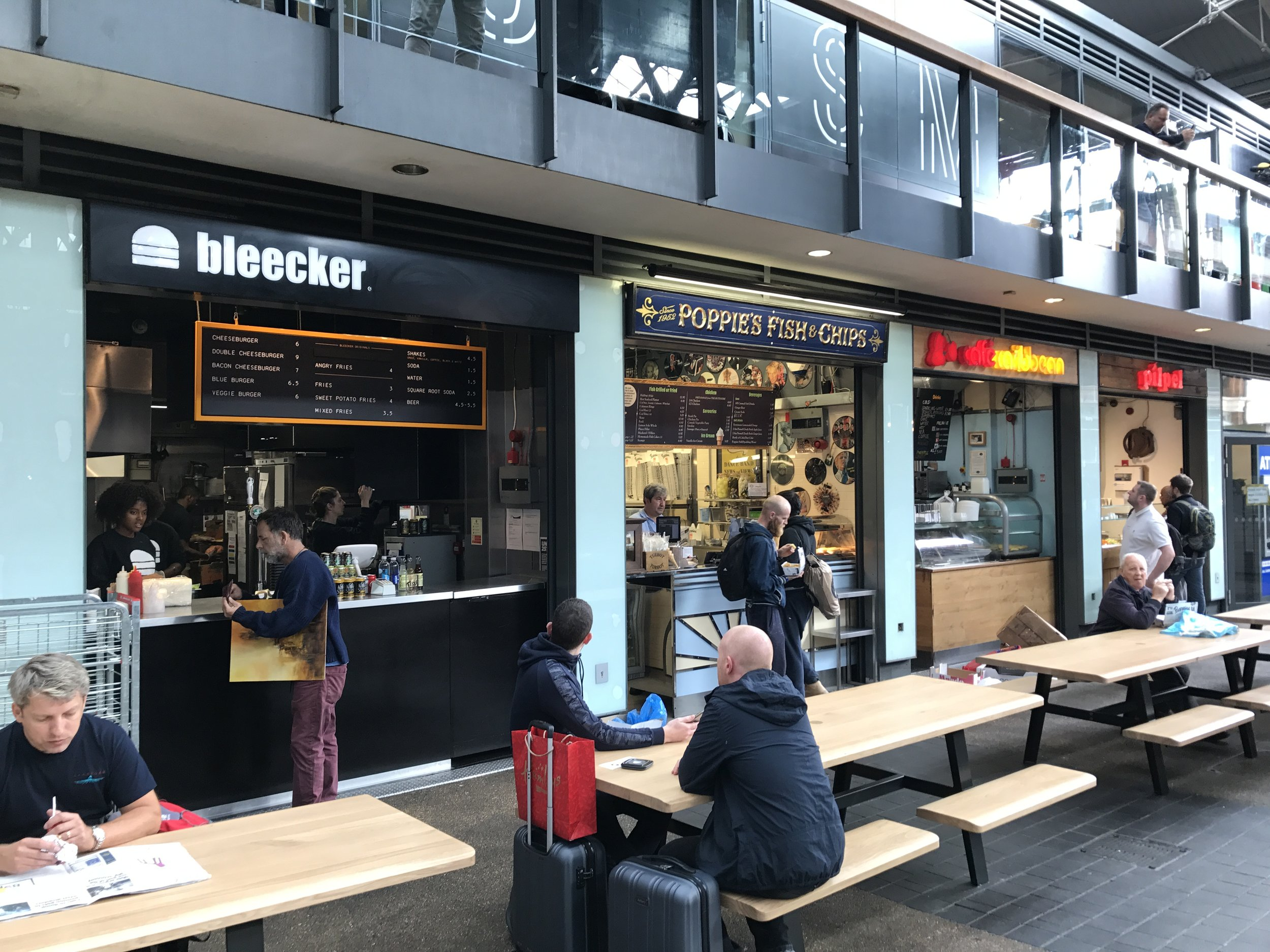 East London – Old Spitalfields Market restaraunts