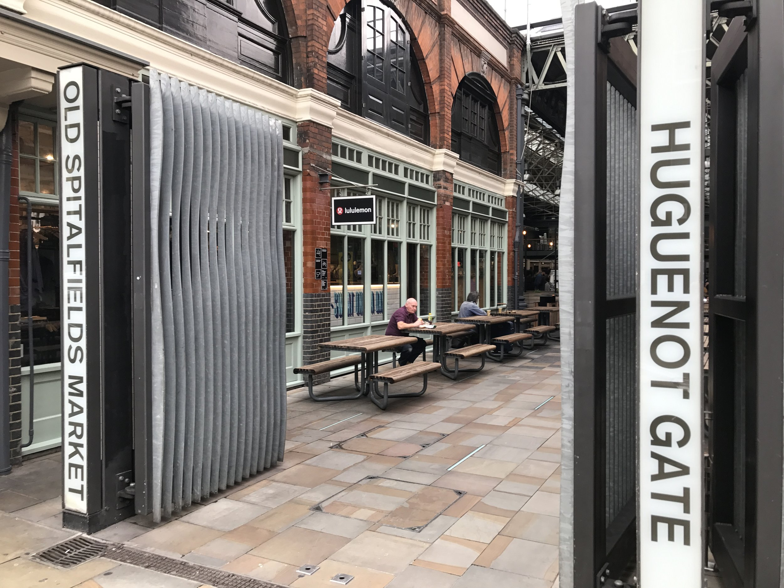 East London – Old Spitalfields Market Huguenot Gate