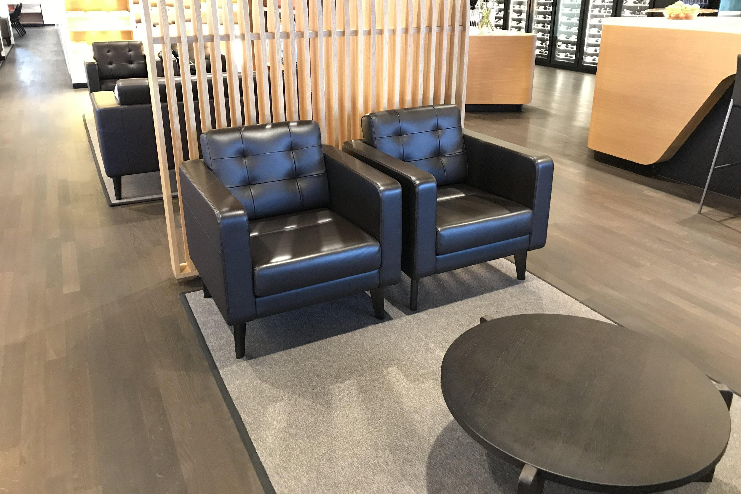 Swiss First Class Lounge Zurich – Seating area