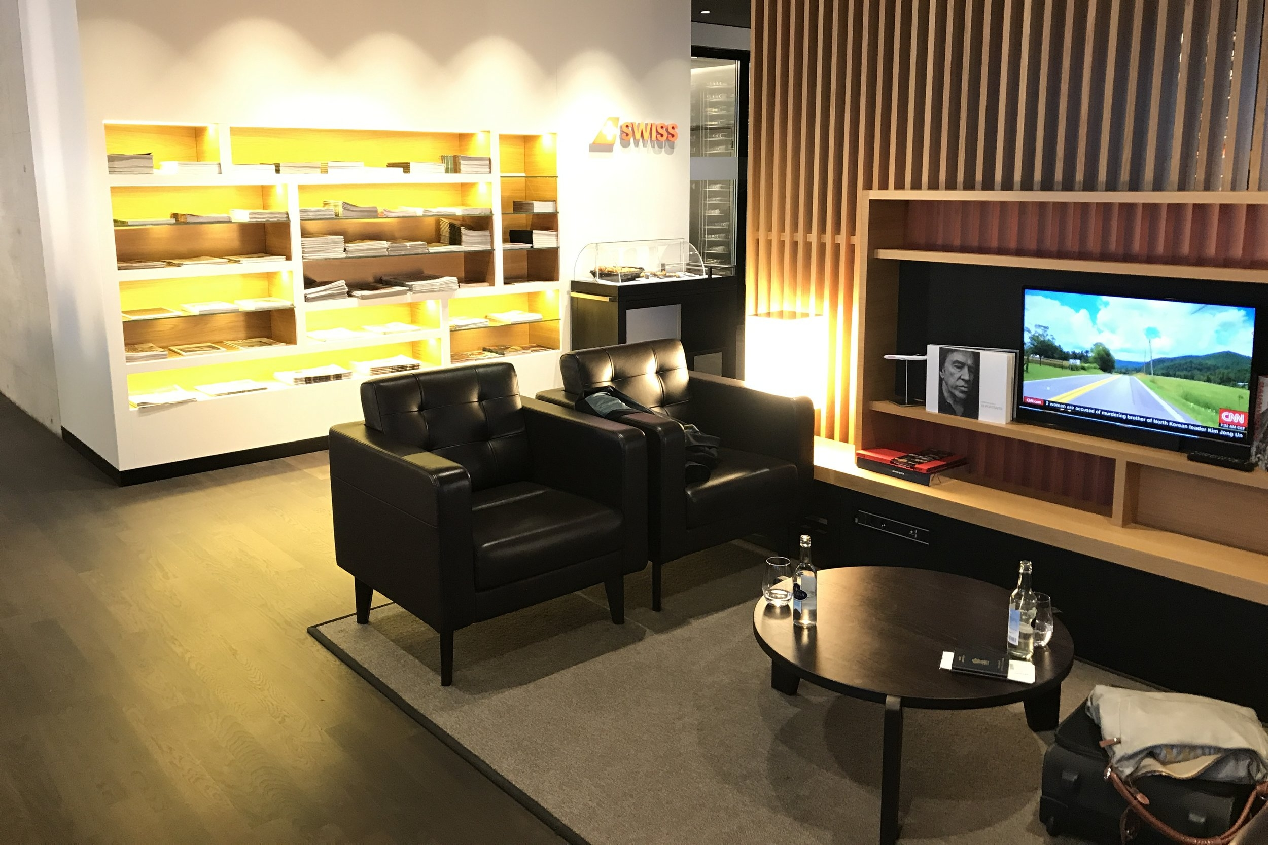 Swiss First Class Lounge Zurich – Magazine rack