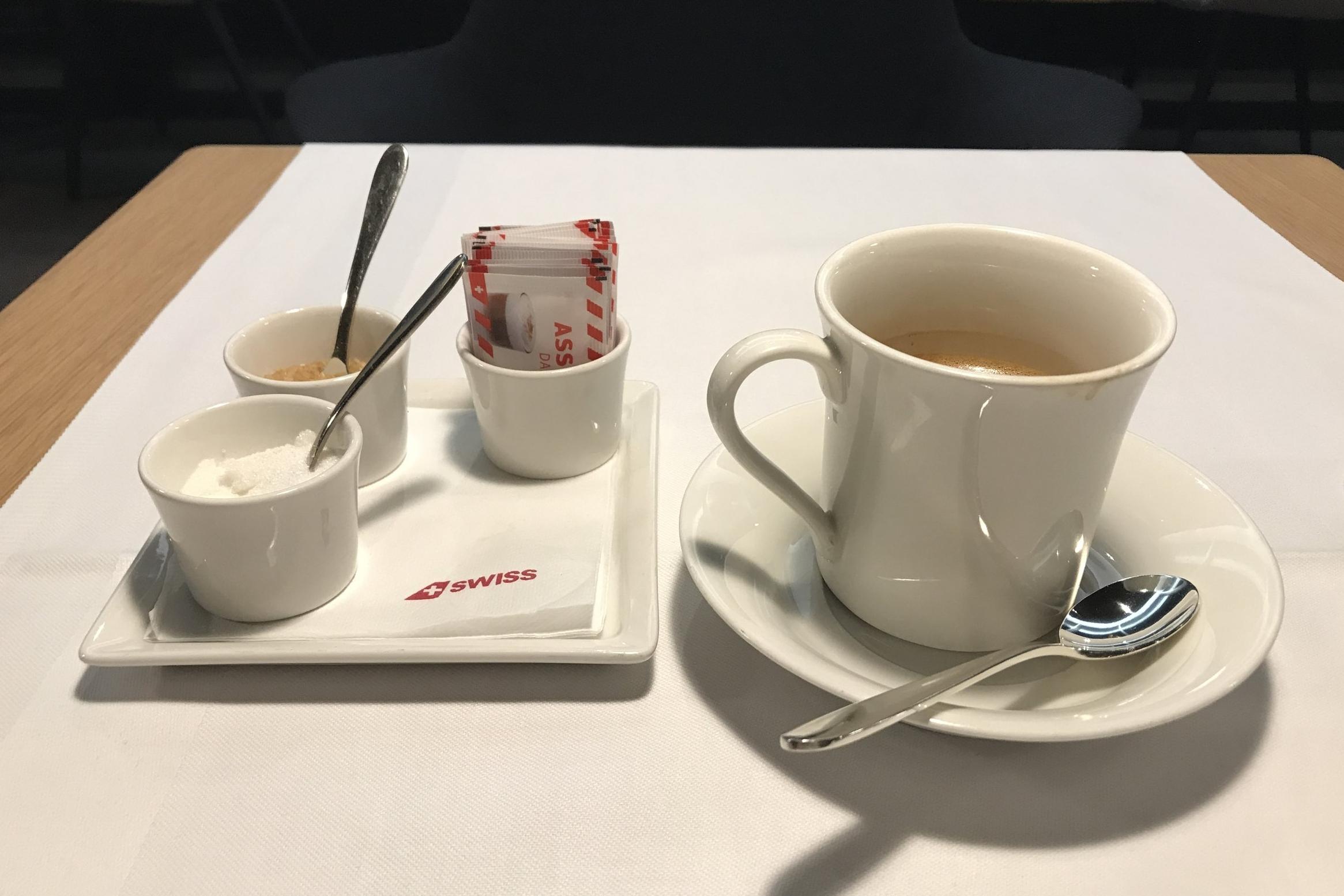 Swiss First Class Lounge Zurich – Coffee