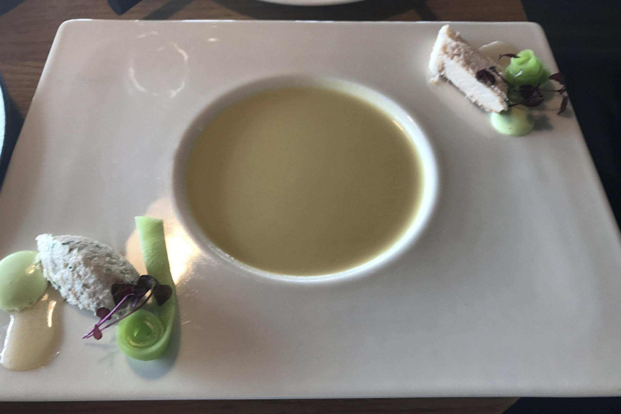 Swiss First Class Lounge Zurich – Cream of horseradish soup