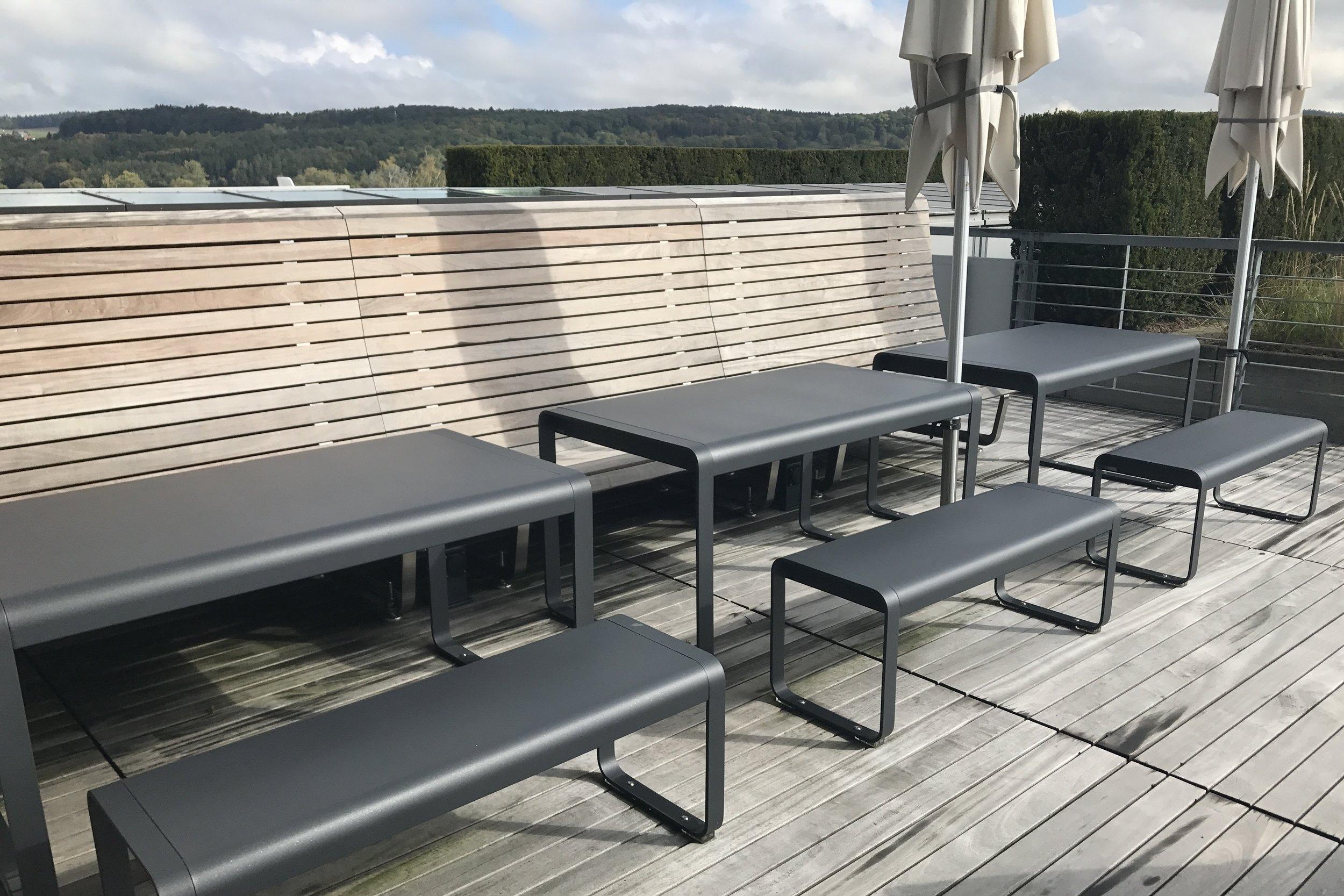 Swiss First Class Lounge Zurich – Patio furniture