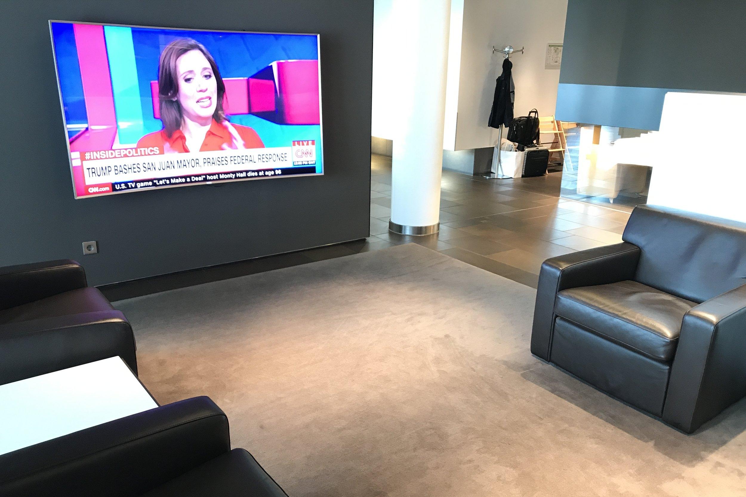 Lufthansa First Class Terminal Frankfurt – TV screen