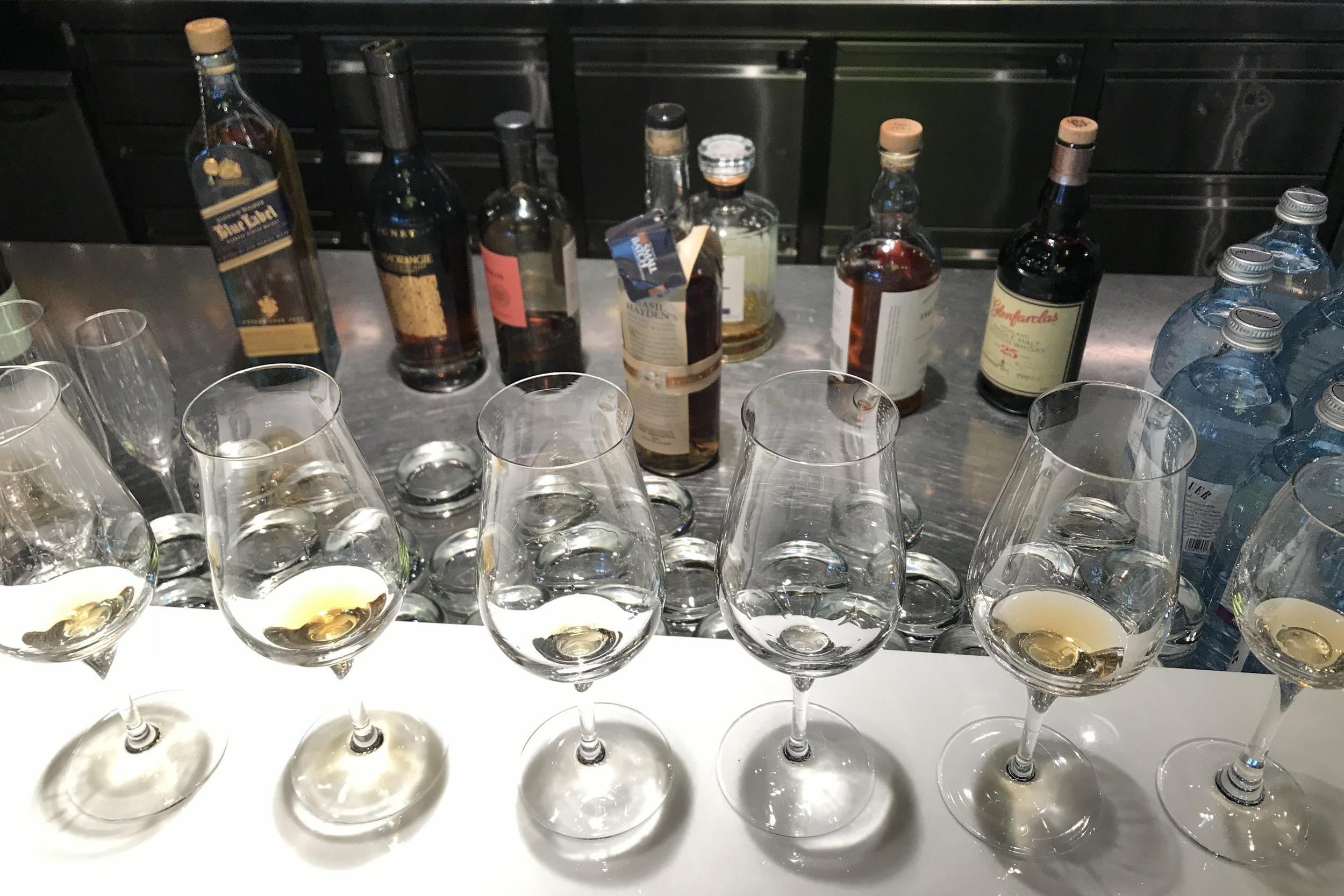Lufthansa First Class Terminal Frankfurt – Whiskey tasting menu