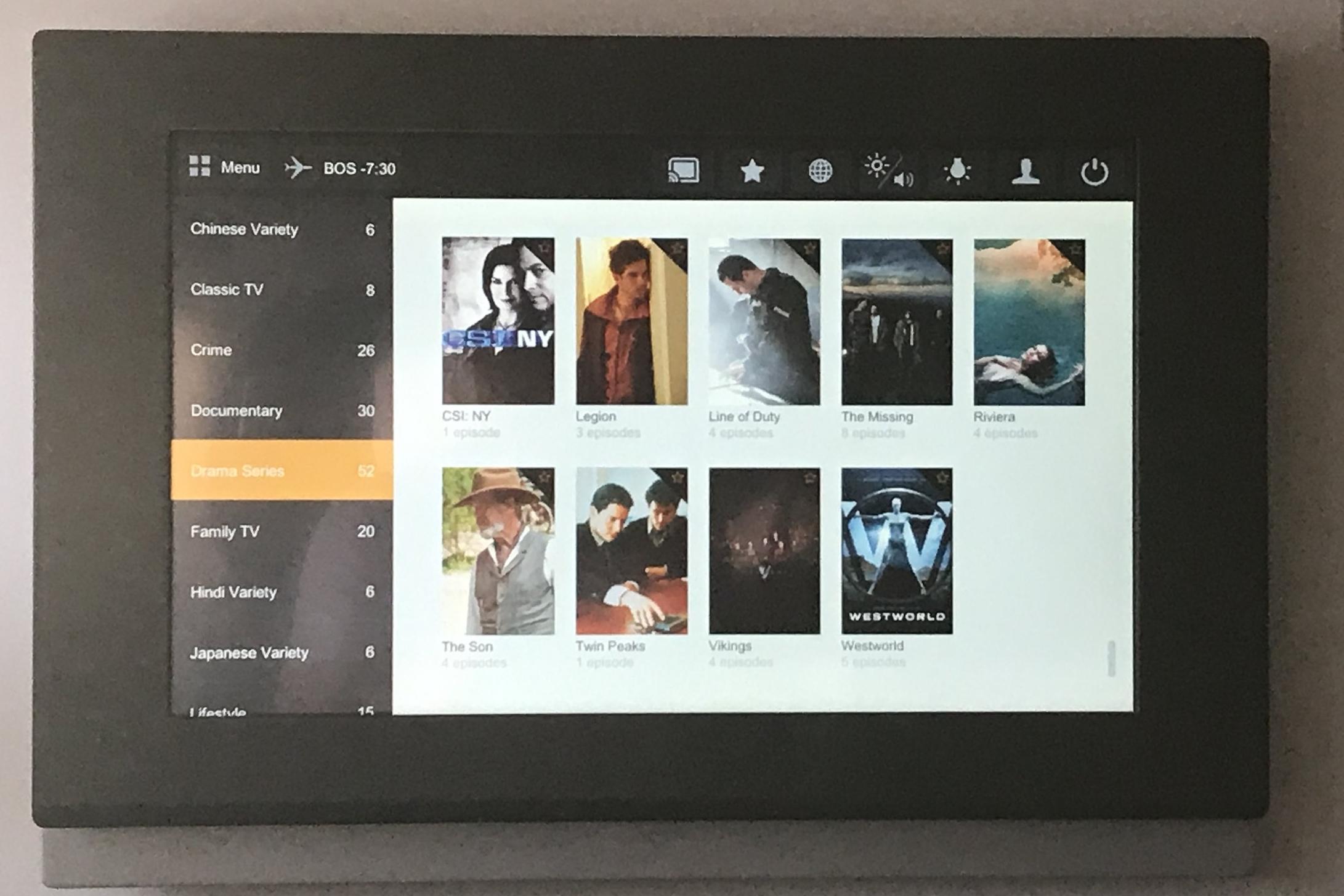Lufthansa First Class – TV selection